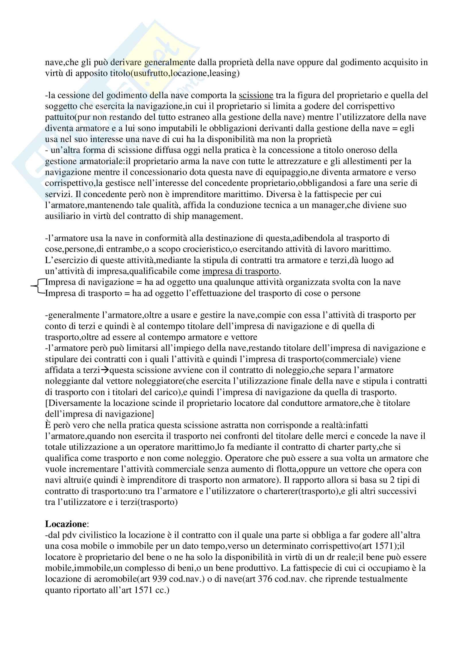 Riassunto esame Diritto dei Trasporti, prof. Antonini, libro consigliato Corso di diritto dei trasporti Pag. 6
