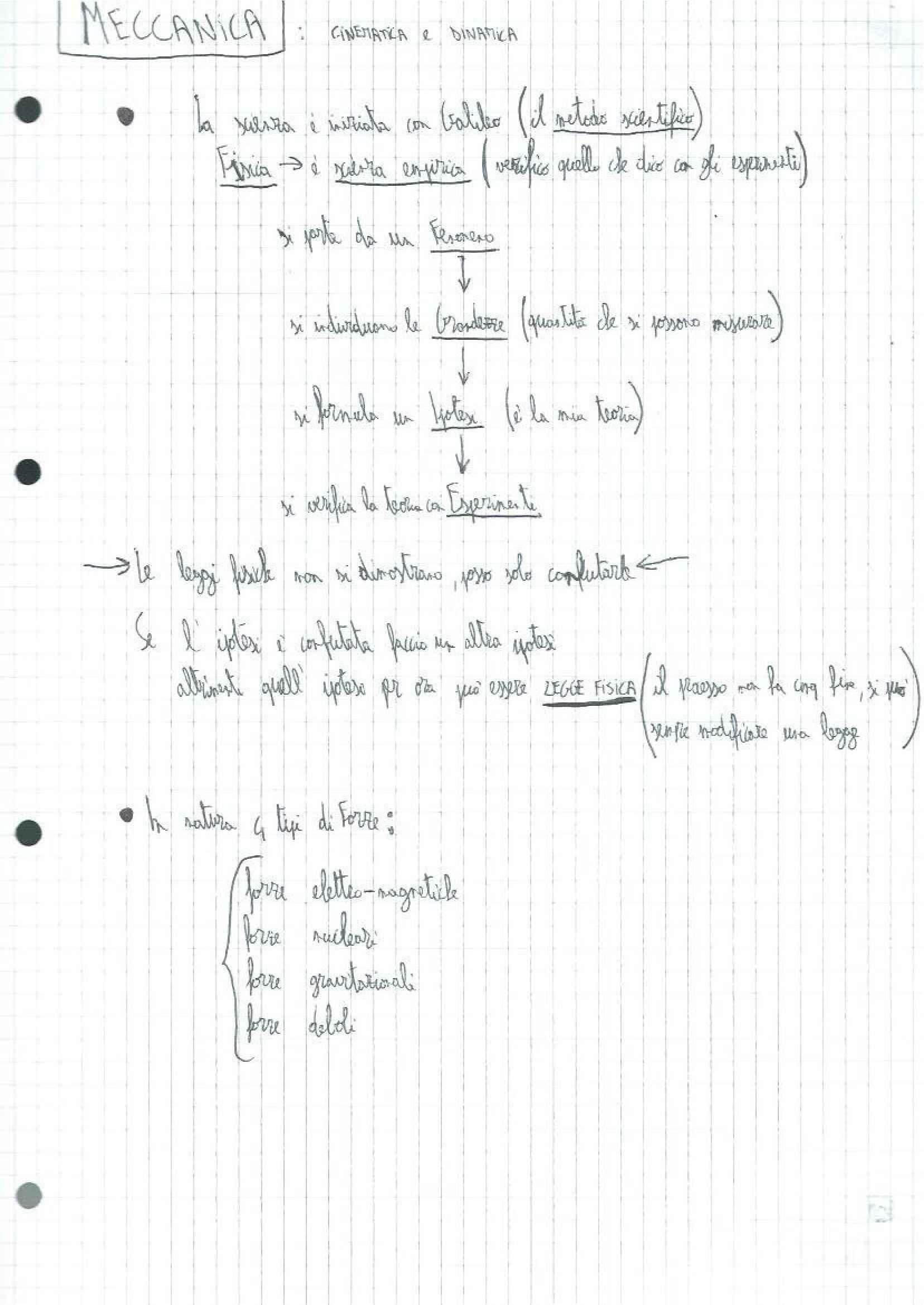 Fondamenti di fisica generale - Appunti