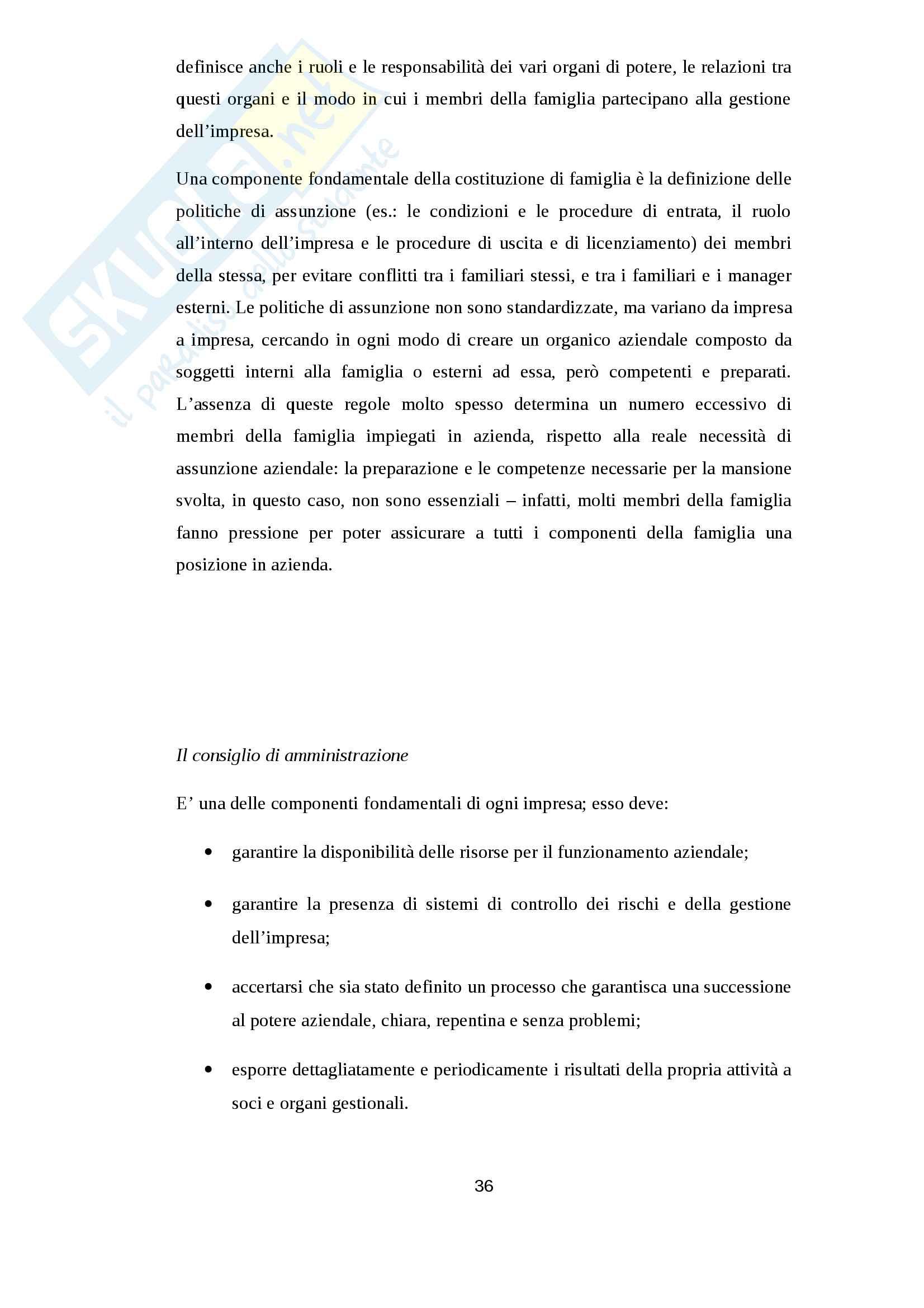 Le problematiche ed il successo del passaggio generazionale: il caso ISED Pag. 36