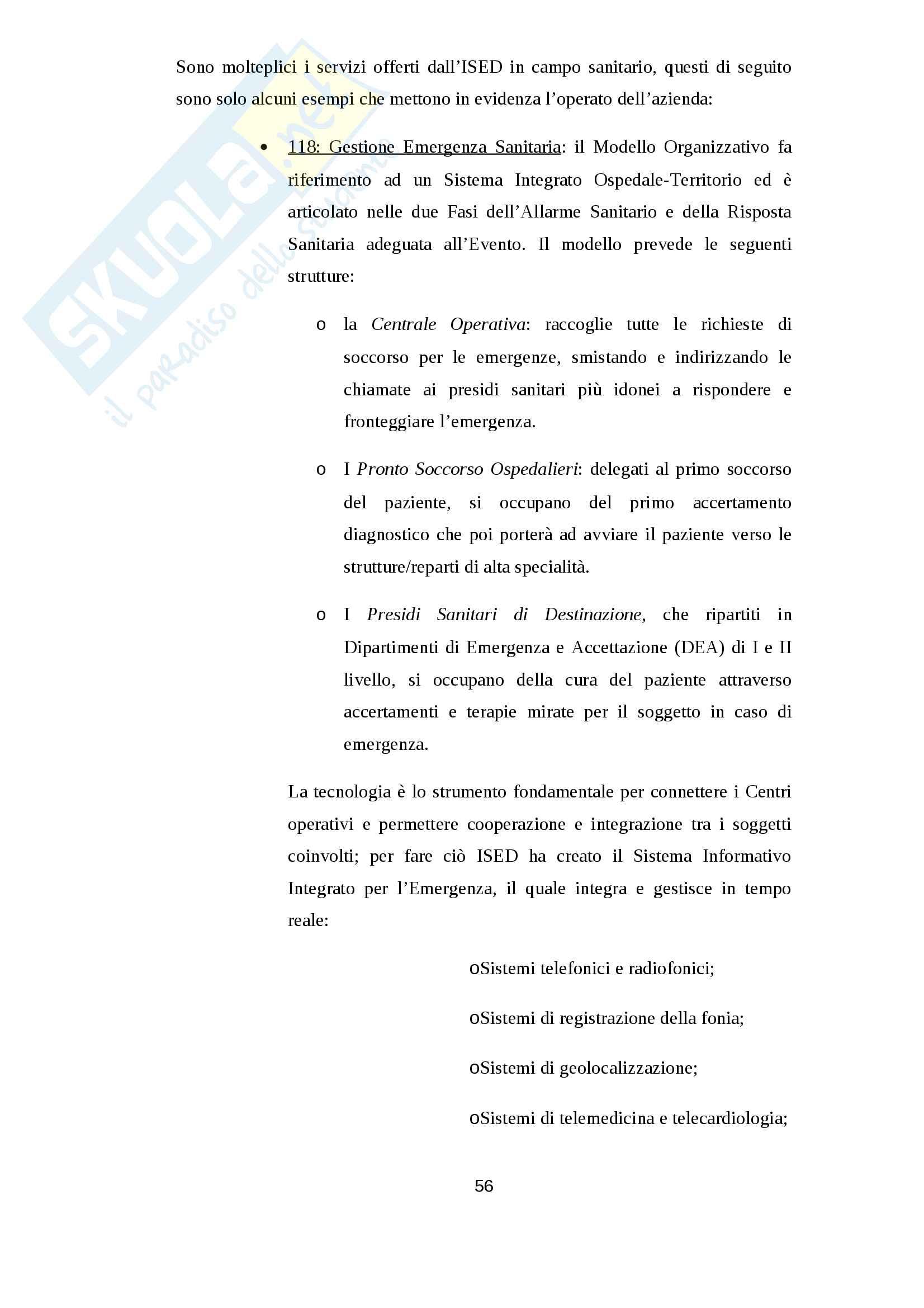Le problematiche ed il successo del passaggio generazionale: il caso ISED Pag. 56