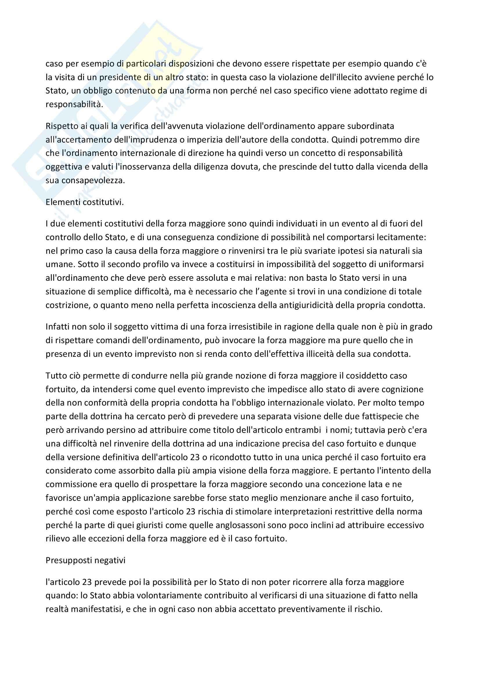 Riassunto esame Diritto, prof. Scalese, libro consigliato La rilevanza delle scusanti nella teoria dell'illecito internazionale Pag. 6