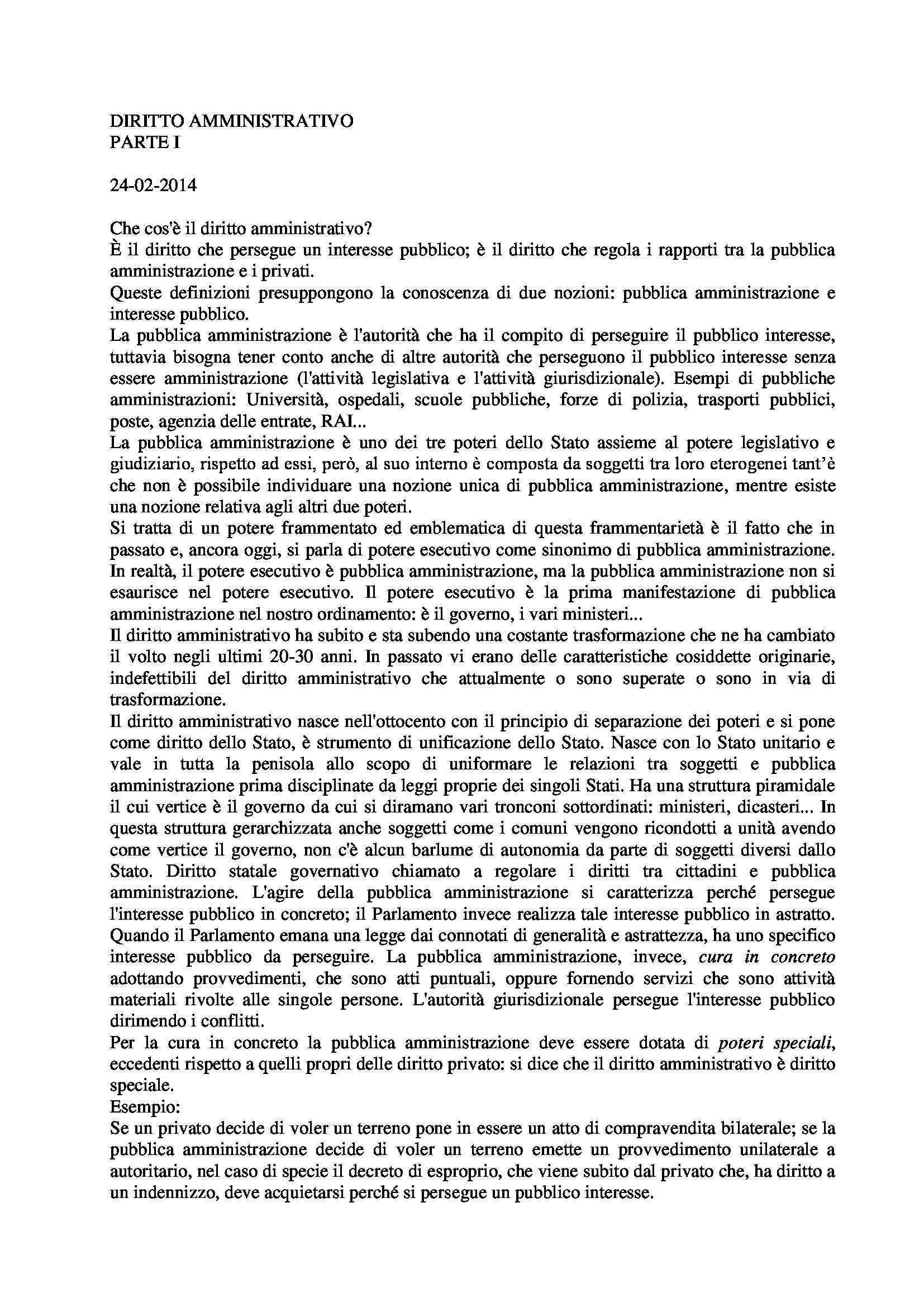 appunto M. Ramajoli Diritto Amministrativo