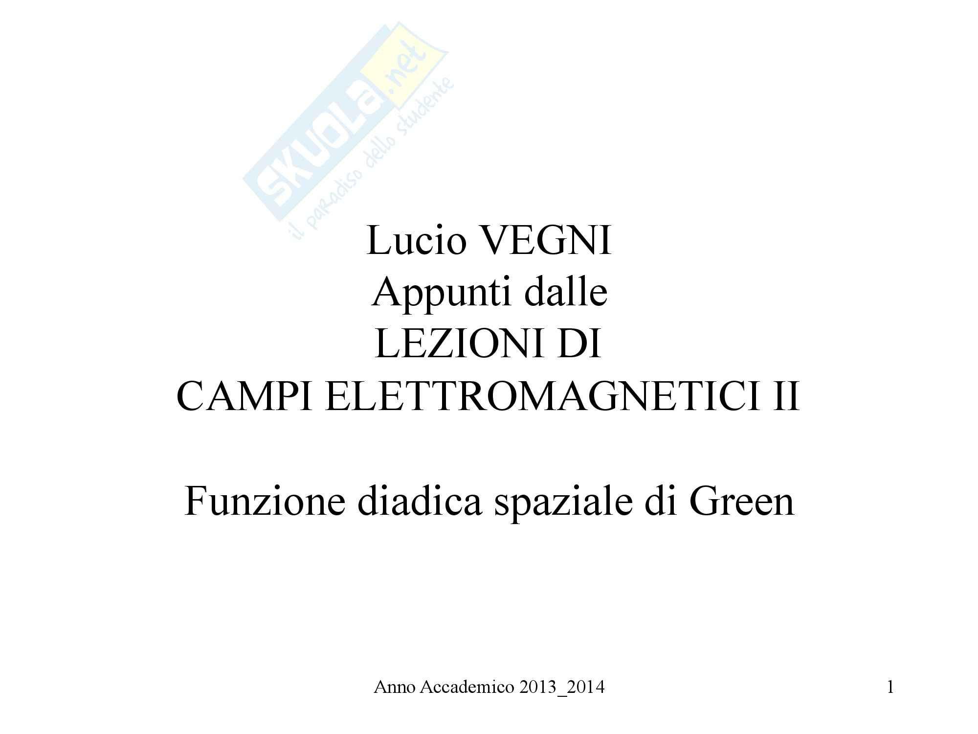 Campi Elettromagnetici II - Funzione diadica spaziale di Green