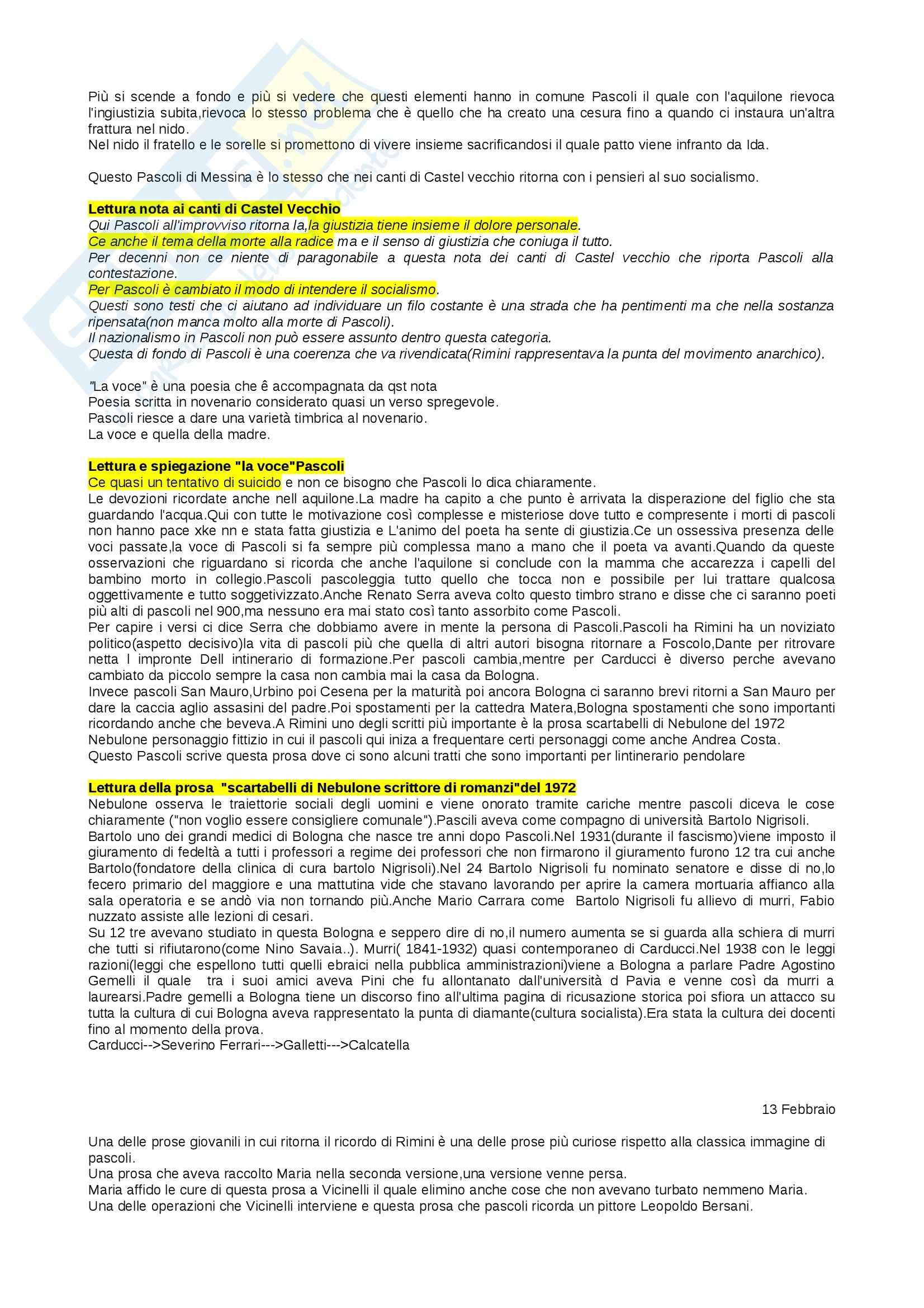Lezioni, Letteratura italiana Pag. 11