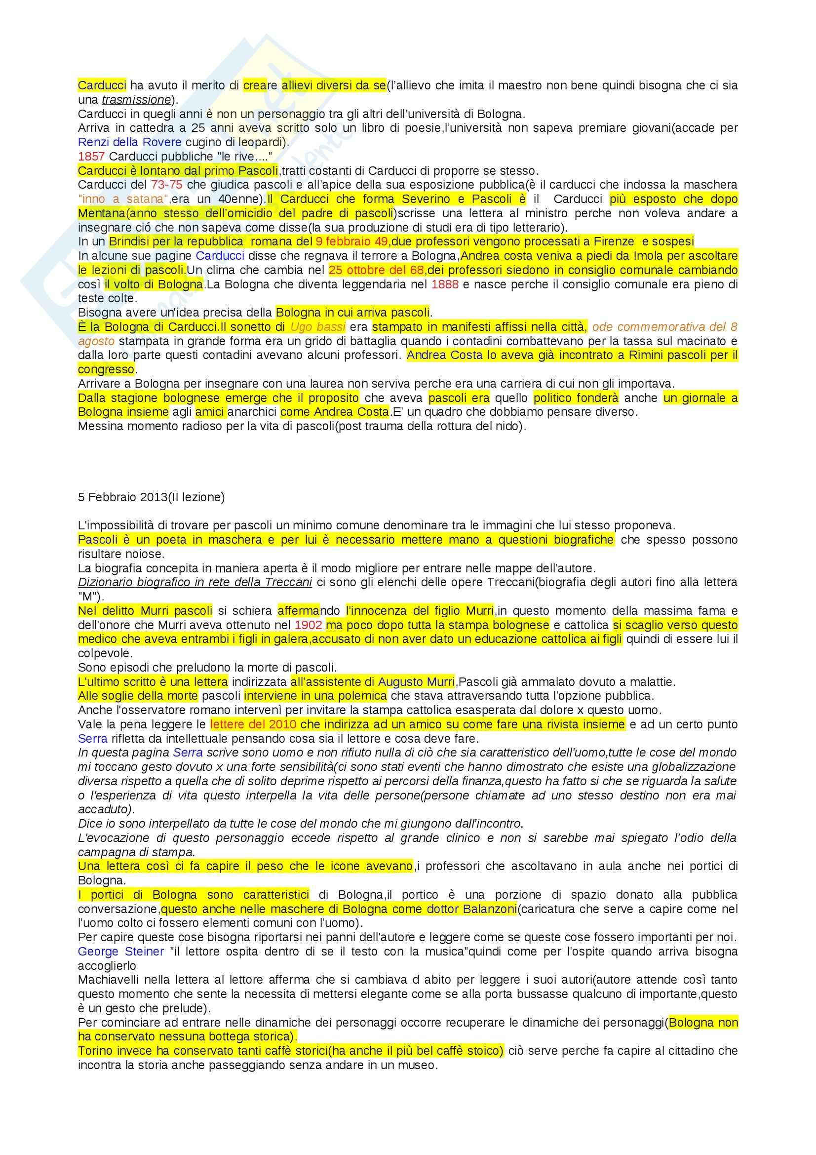Lezioni, Letteratura italiana Pag. 2