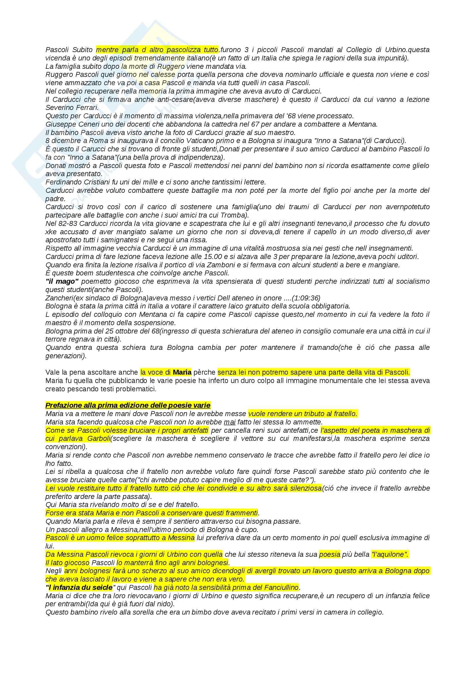 Lezioni, Letteratura italiana Pag. 6