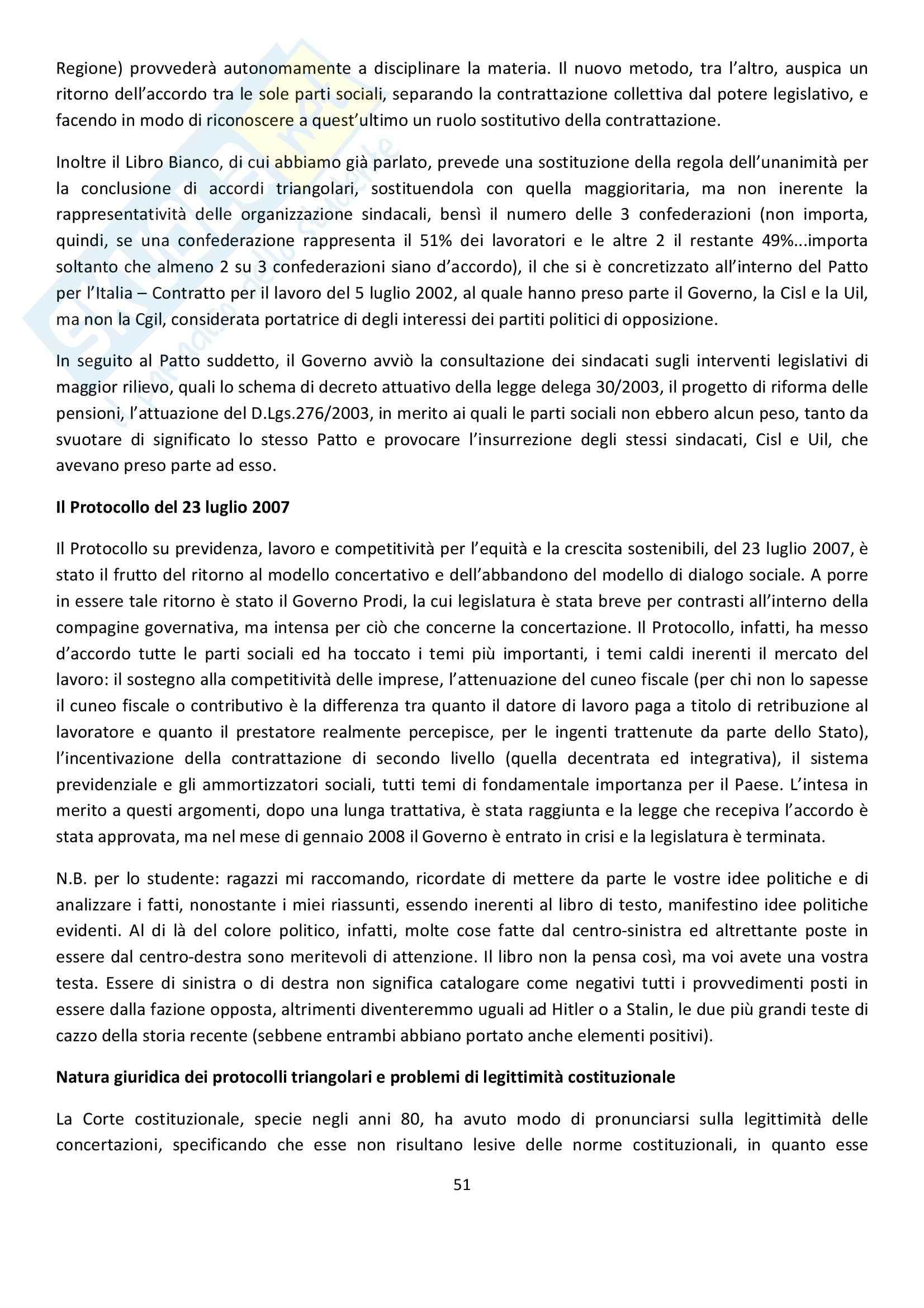 Diritto Sindacale Pag. 51