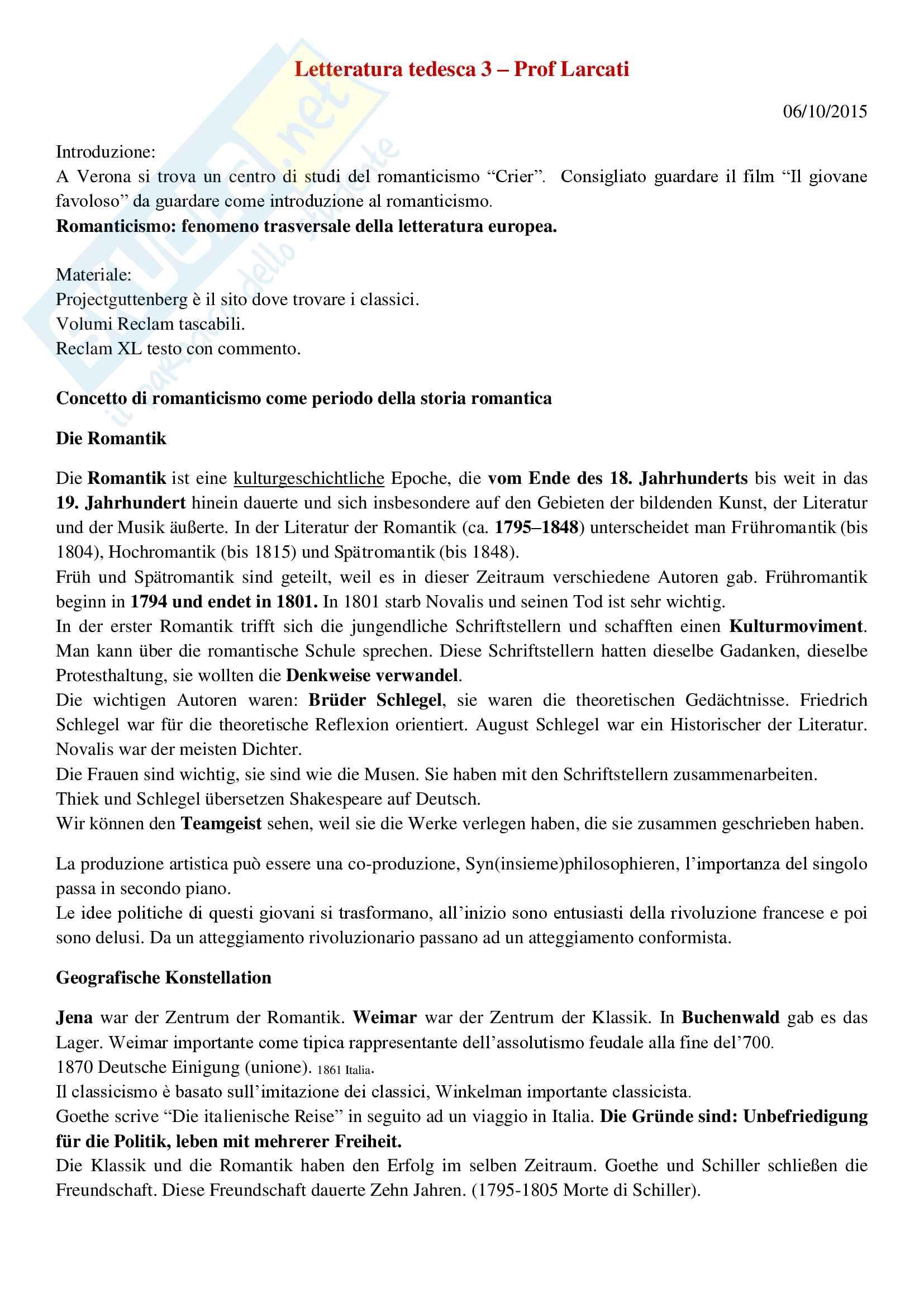 Letteratura tedesca 3
