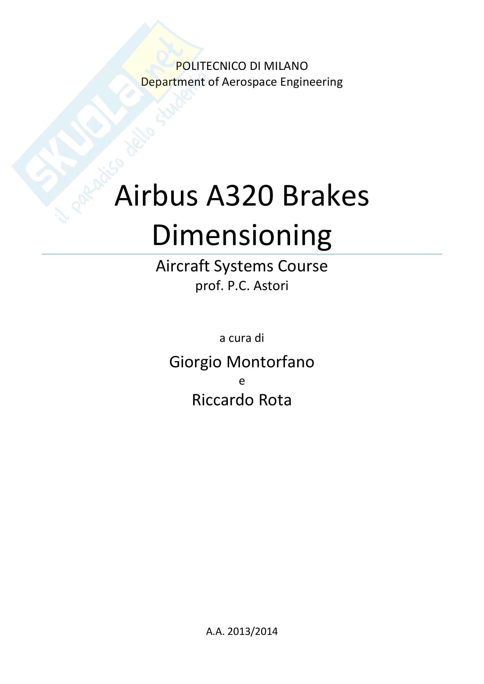 Airbus A320 Brakes Dimensioning