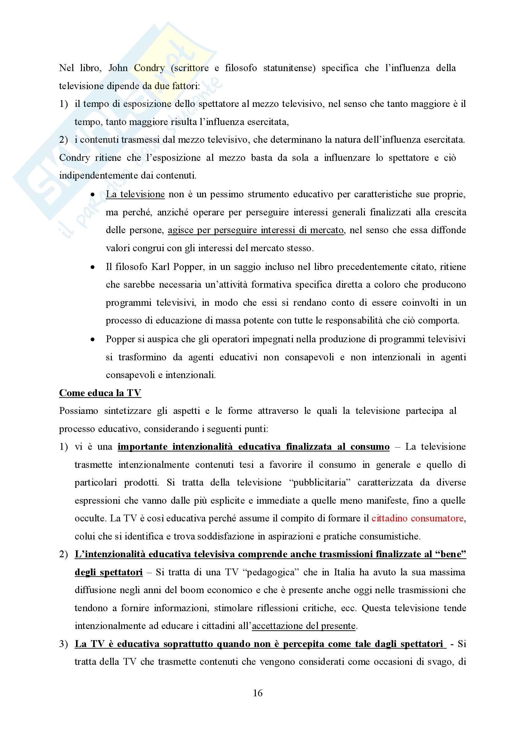 Pedagogia generale – Educazione informale Pag. 16