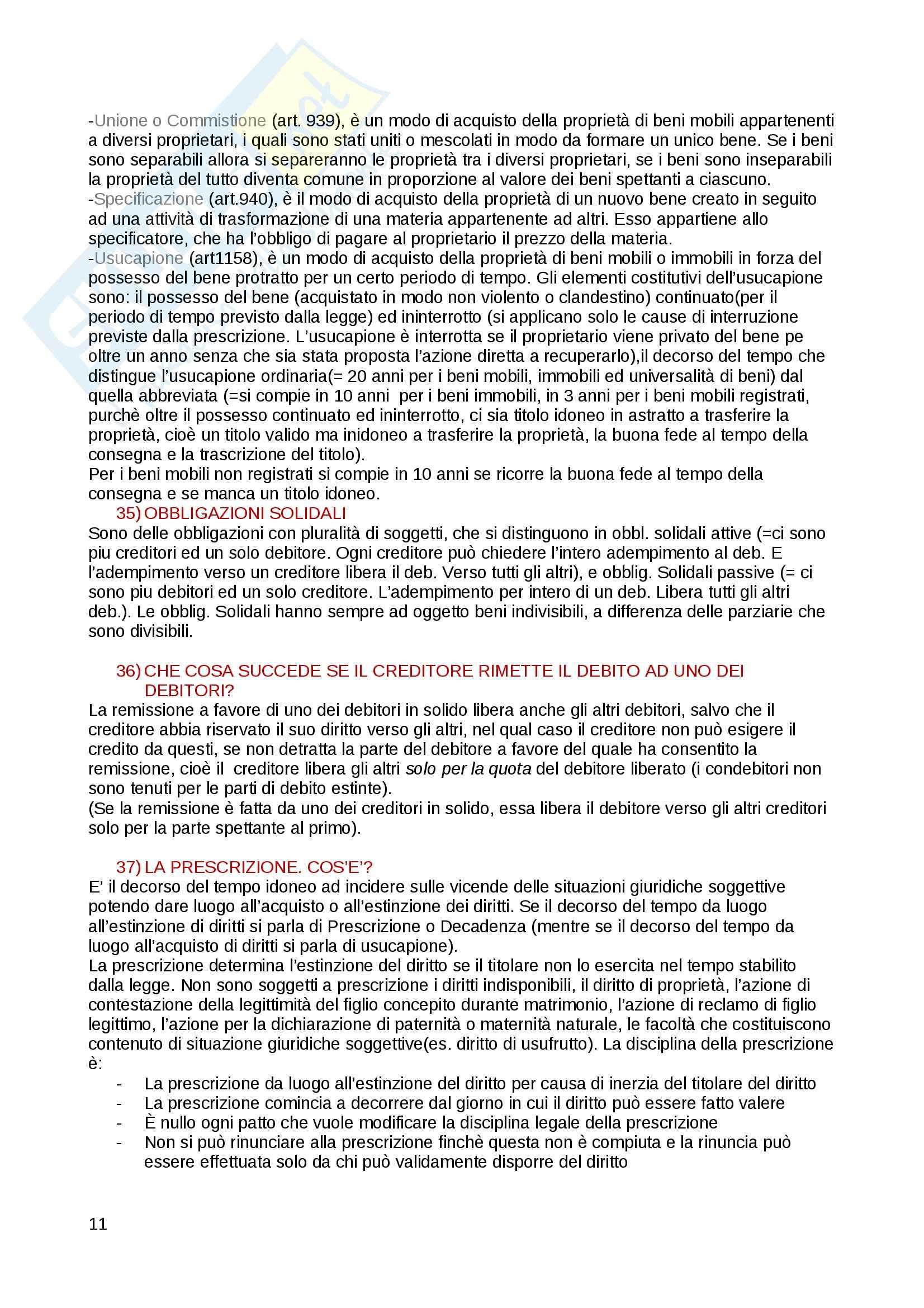 Domande e risposte di diritto privato Pag. 11