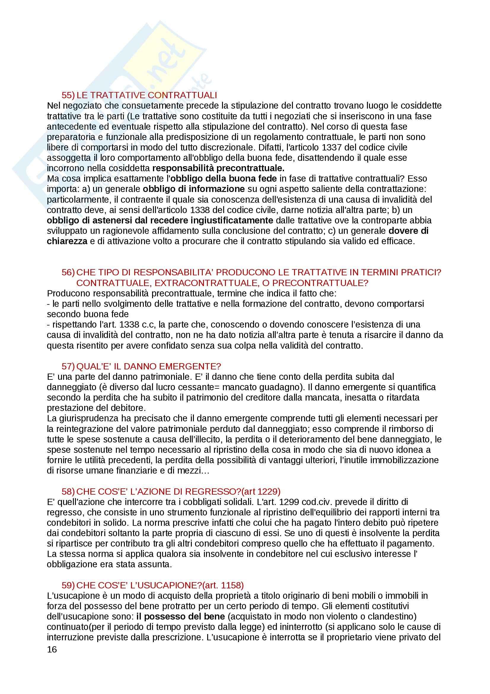 Domande e risposte di diritto privato Pag. 16