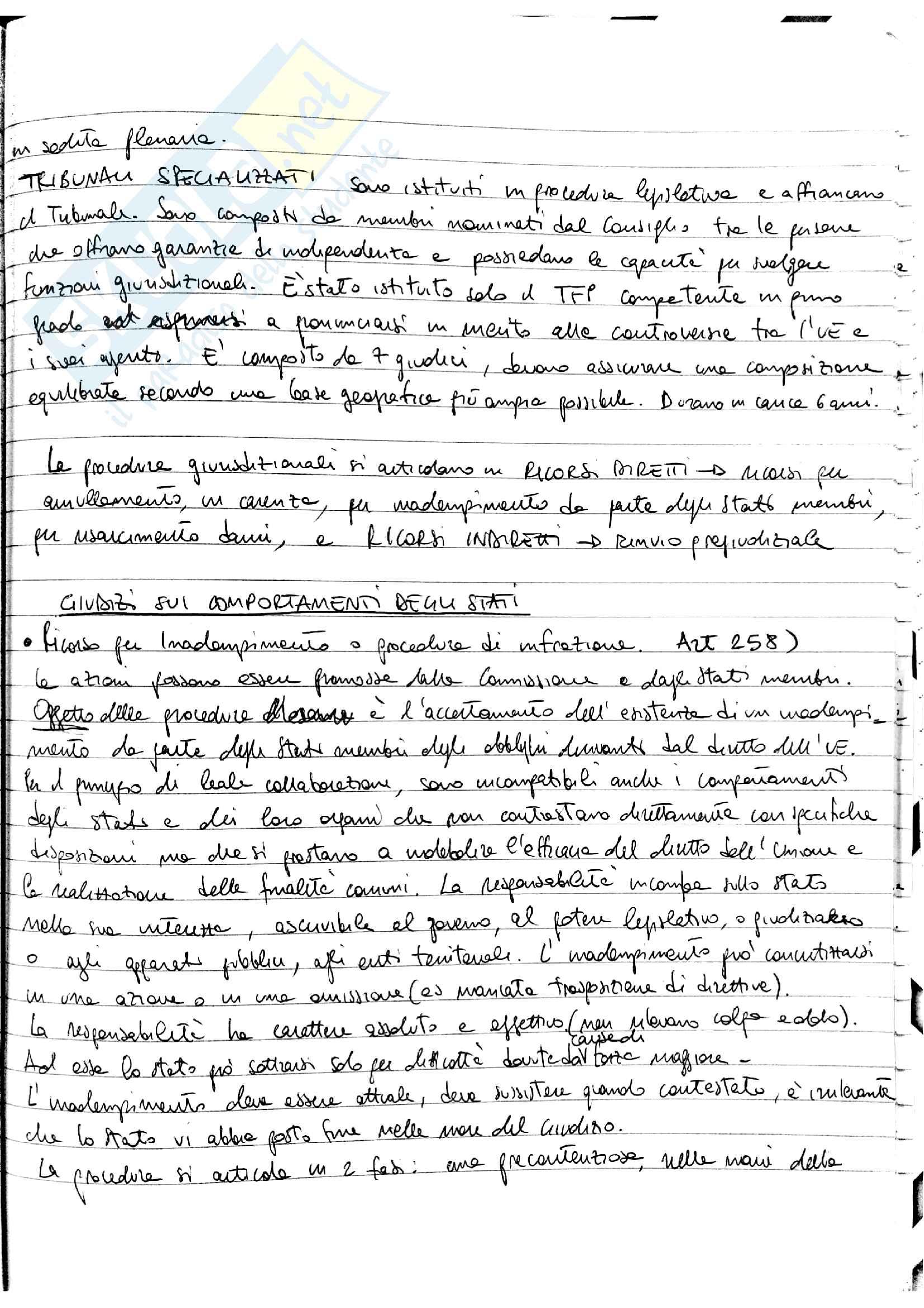 Appunti Diritto dell'Unione Europea - prof. Fortunato Pag. 36