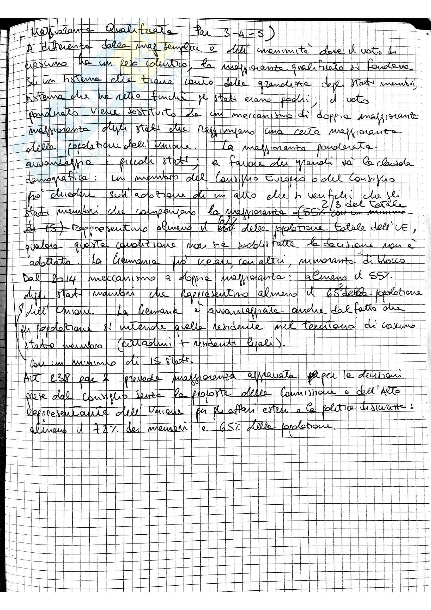 Appunti Diritto dell'Unione Europea - prof. Fortunato Pag. 6