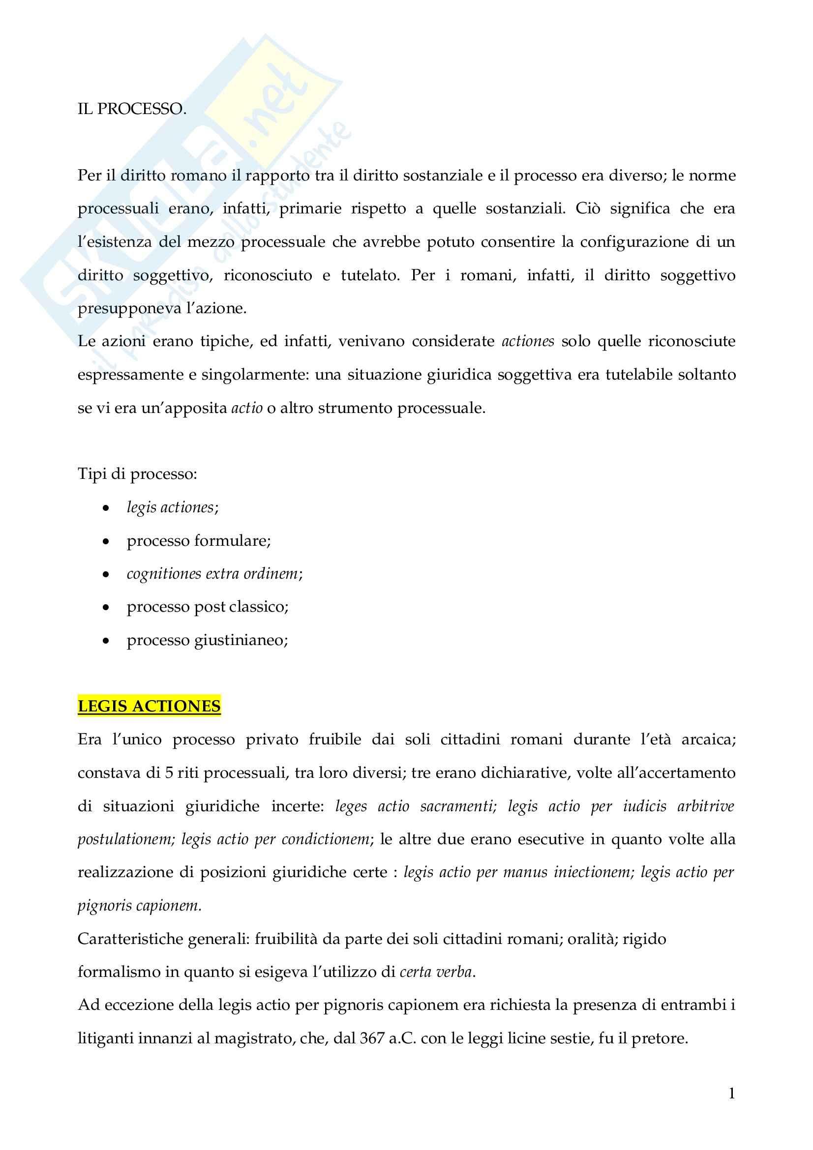 Riassunto esame Istituzioni di Diritto Romano, prof. Finazzi, libro consigliato Istituzioni di Diritto Romano, Talamanca
