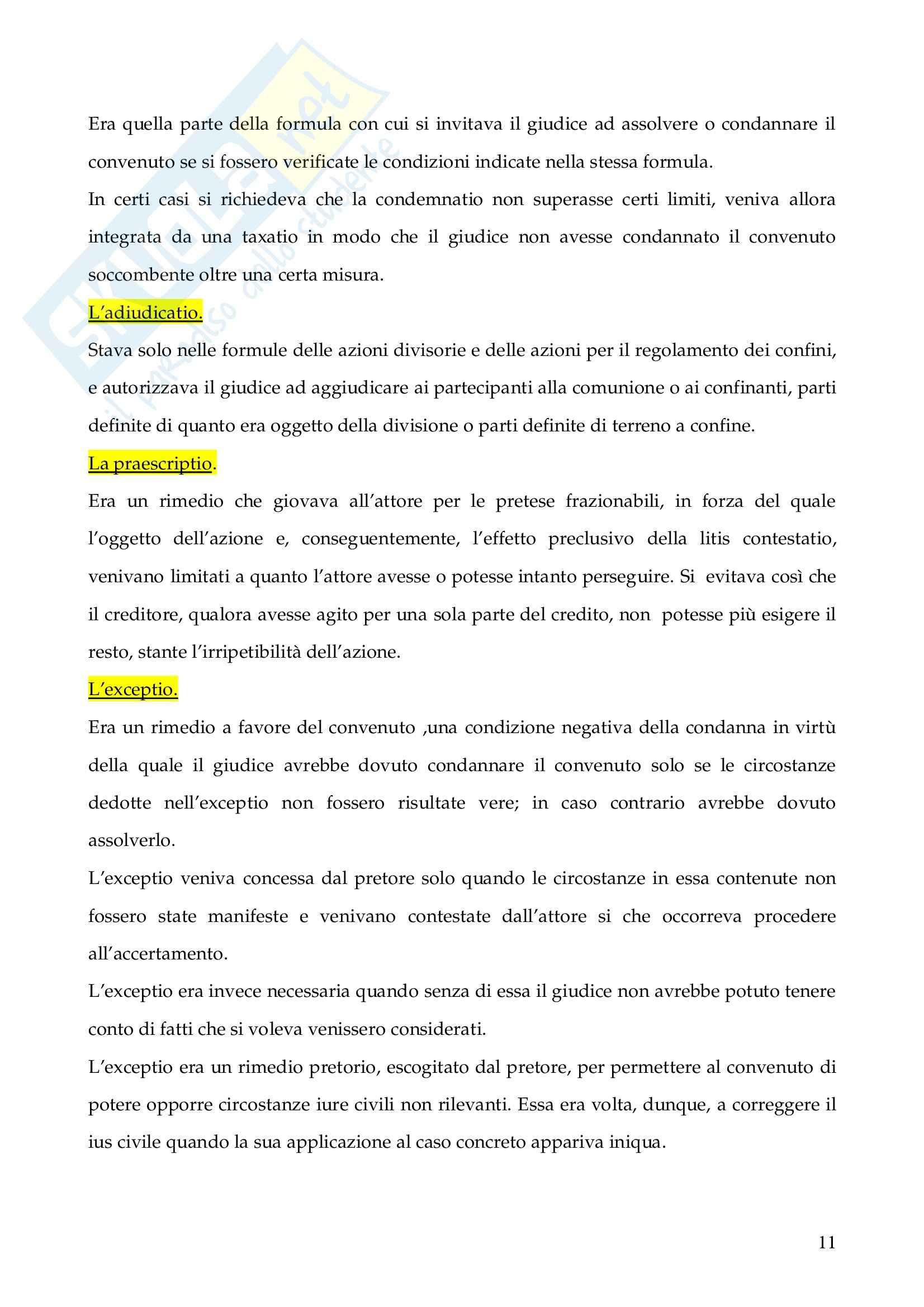 Riassunto esame Istituzioni di Diritto Romano, prof. Finazzi, libro consigliato Istituzioni di Diritto Romano, Talamanca Pag. 11