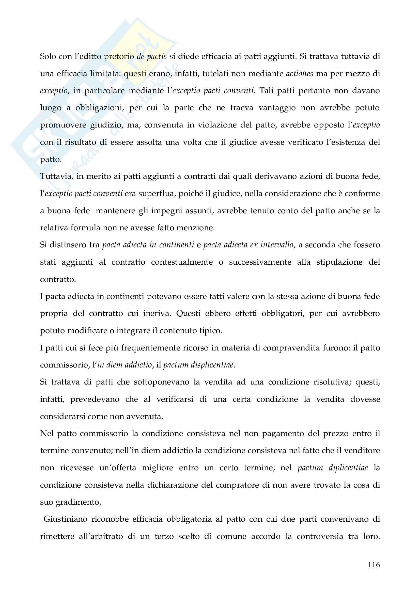 Riassunto esame Istituzioni di Diritto Romano, prof. Finazzi, libro consigliato Istituzioni di Diritto Romano, Talamanca Pag. 116