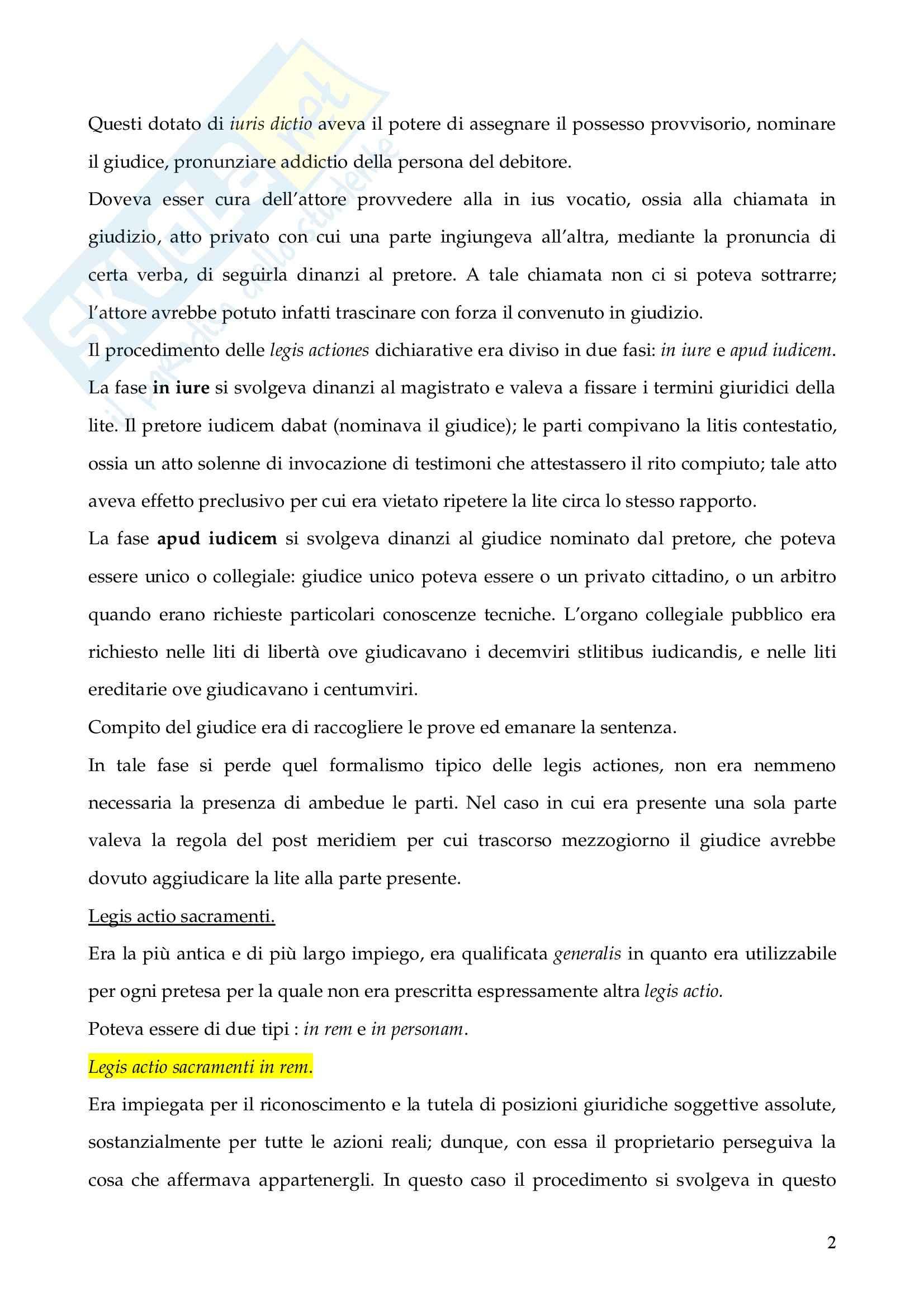 Riassunto esame Istituzioni di Diritto Romano, prof. Finazzi, libro consigliato Istituzioni di Diritto Romano, Talamanca Pag. 2