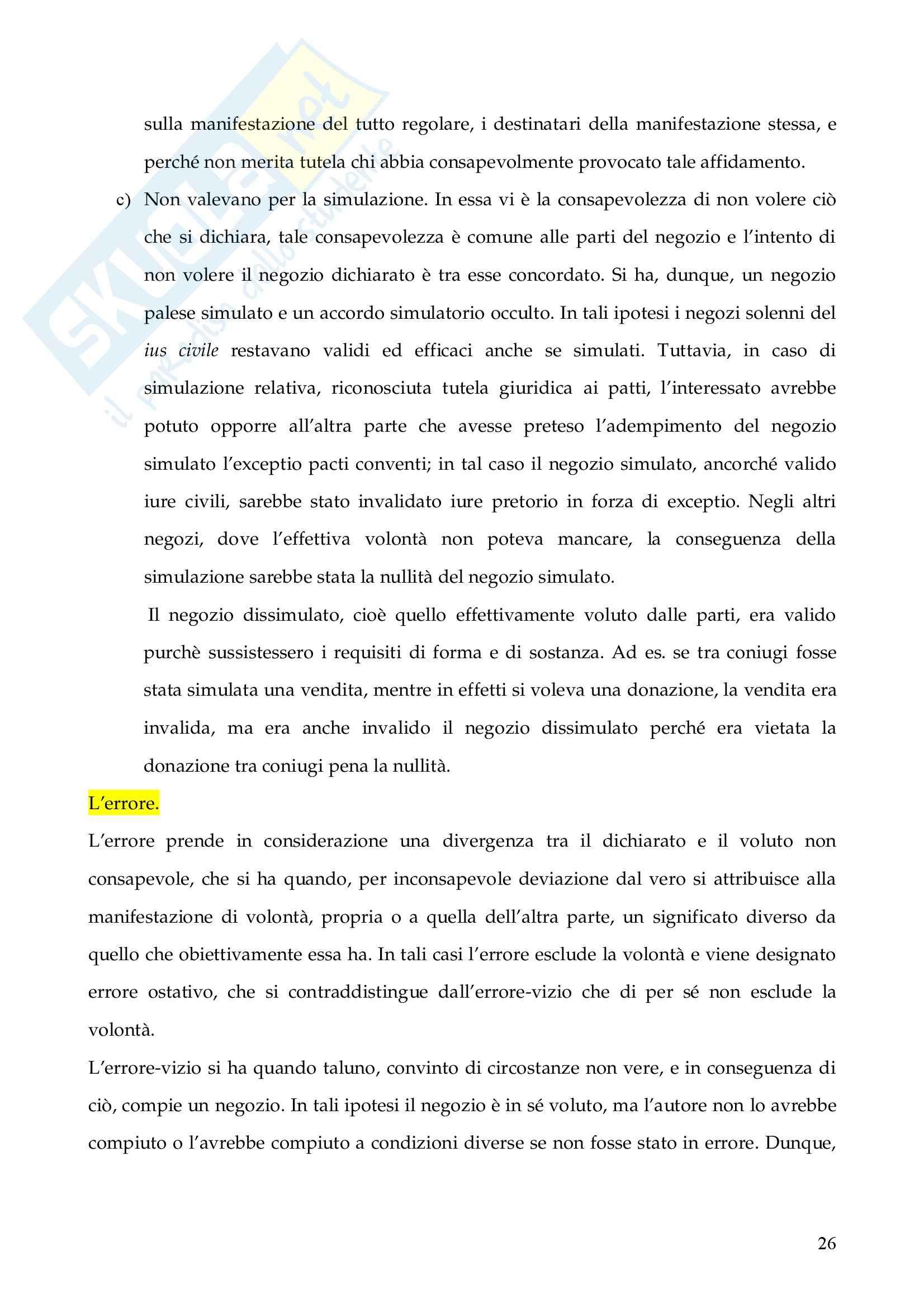 Riassunto esame Istituzioni di Diritto Romano, prof. Finazzi, libro consigliato Istituzioni di Diritto Romano, Talamanca Pag. 26