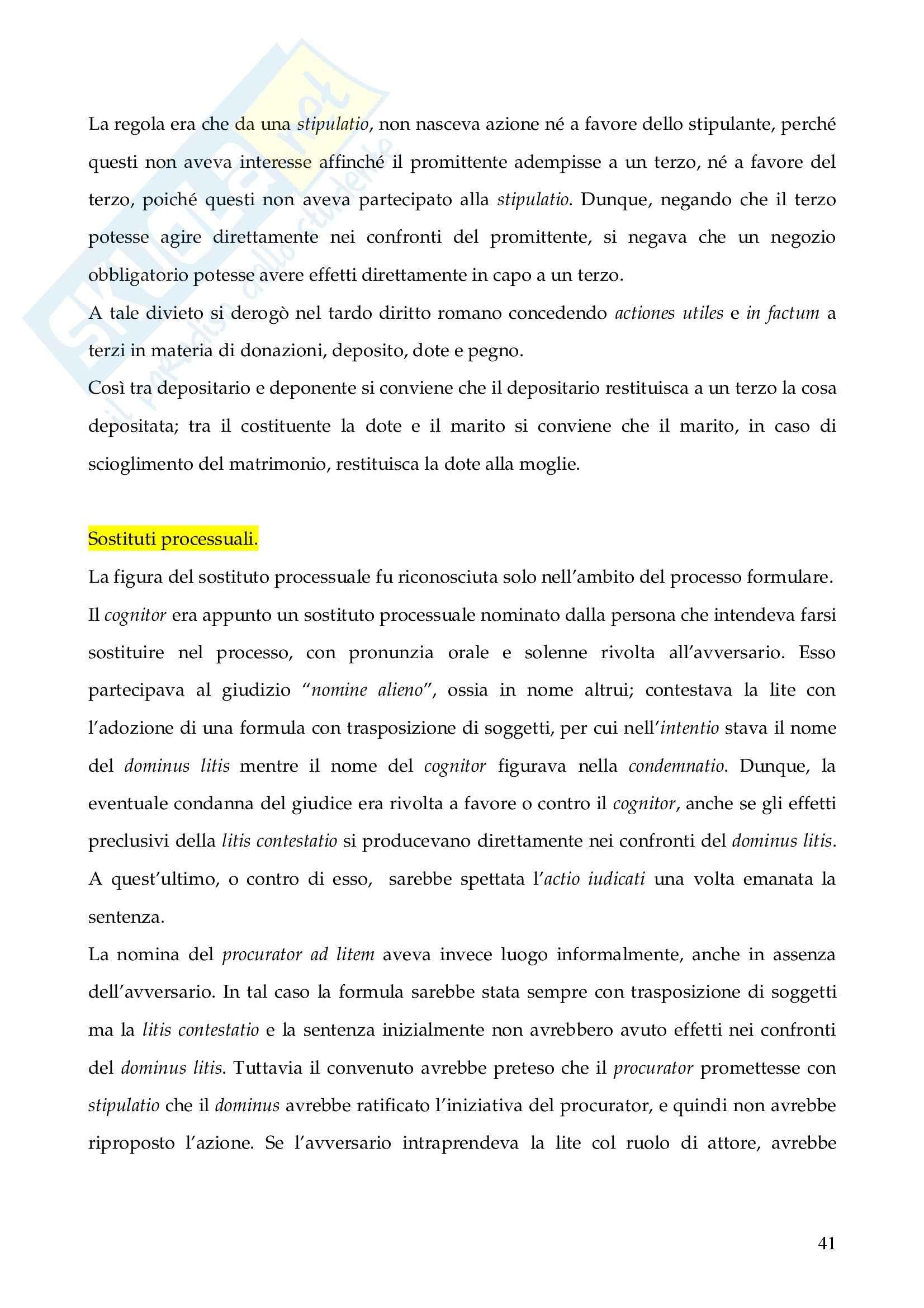Riassunto esame Istituzioni di Diritto Romano, prof. Finazzi, libro consigliato Istituzioni di Diritto Romano, Talamanca Pag. 41