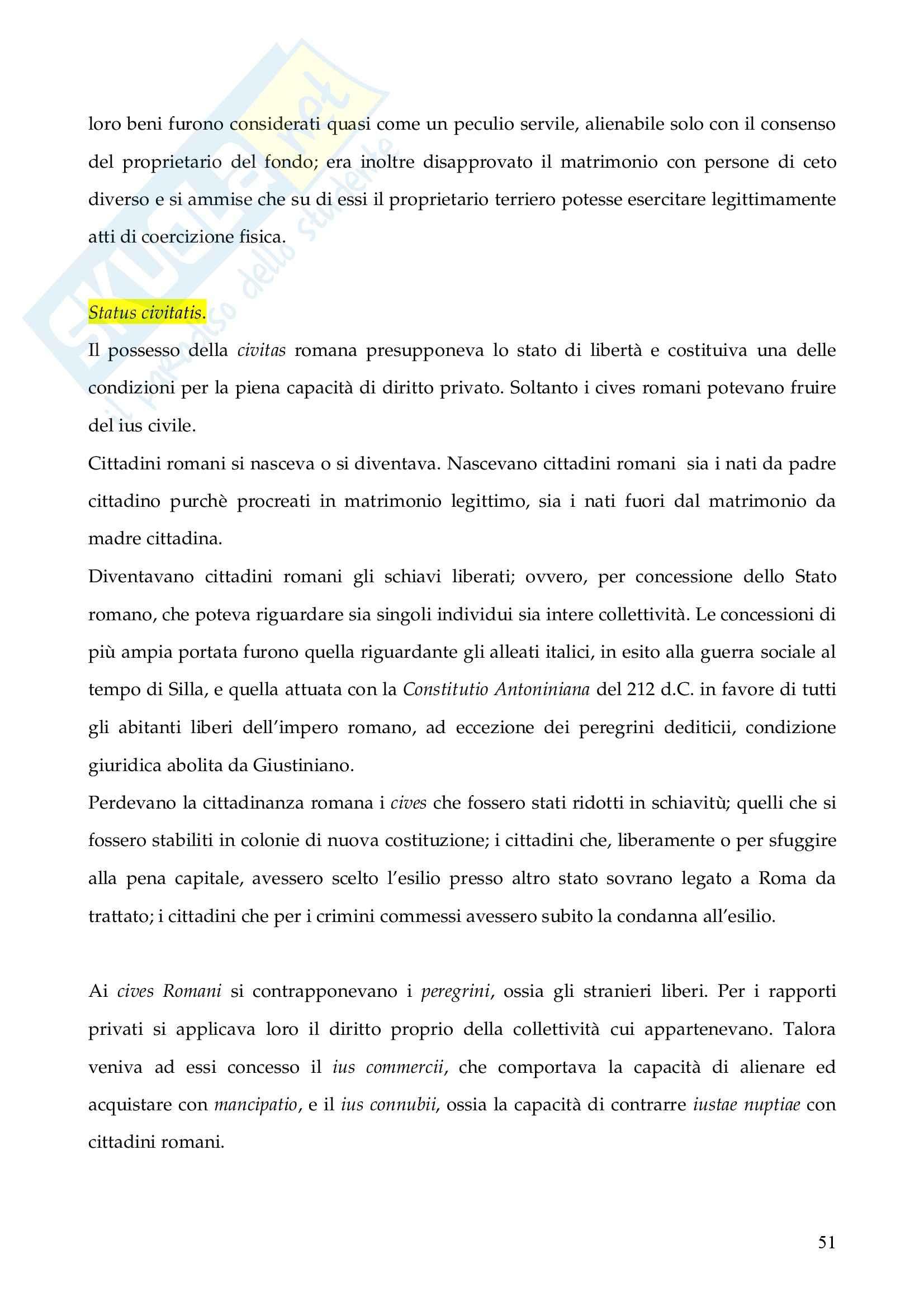 Riassunto esame Istituzioni di Diritto Romano, prof. Finazzi, libro consigliato Istituzioni di Diritto Romano, Talamanca Pag. 51