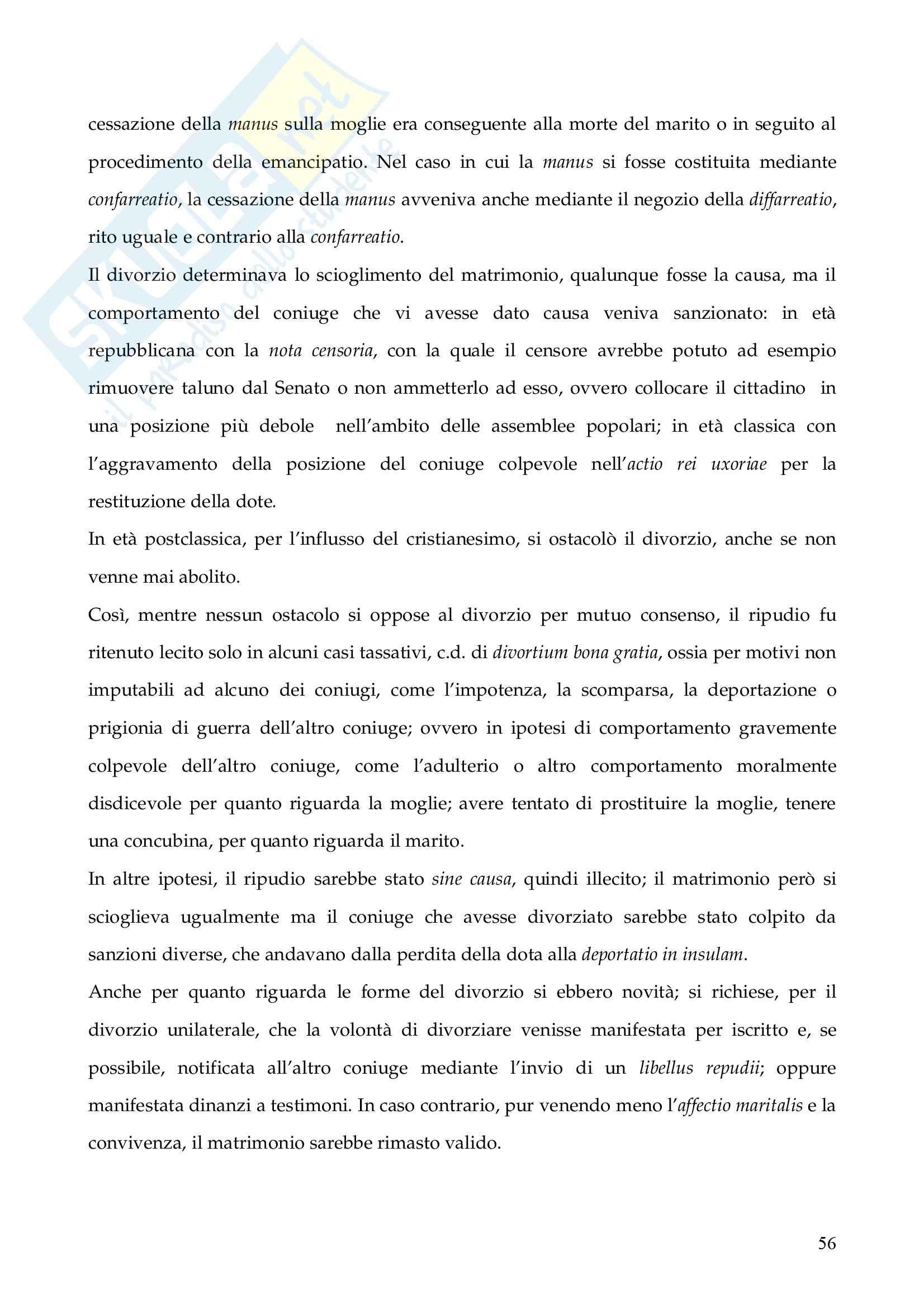 Riassunto esame Istituzioni di Diritto Romano, prof. Finazzi, libro consigliato Istituzioni di Diritto Romano, Talamanca Pag. 56