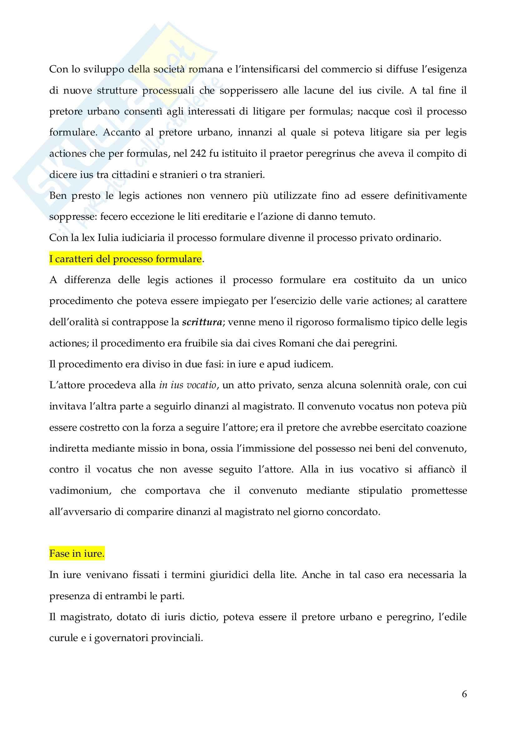 Riassunto esame Istituzioni di Diritto Romano, prof. Finazzi, libro consigliato Istituzioni di Diritto Romano, Talamanca Pag. 6