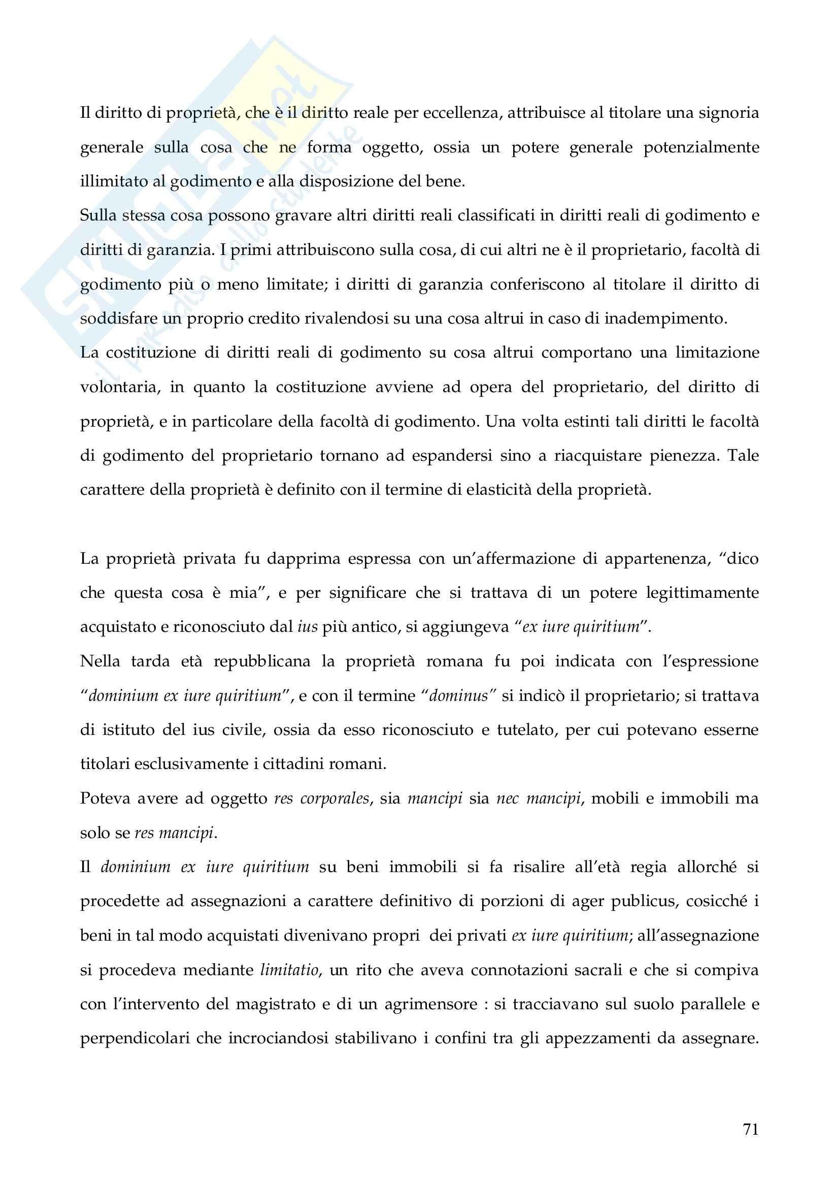Riassunto esame Istituzioni di Diritto Romano, prof. Finazzi, libro consigliato Istituzioni di Diritto Romano, Talamanca Pag. 71
