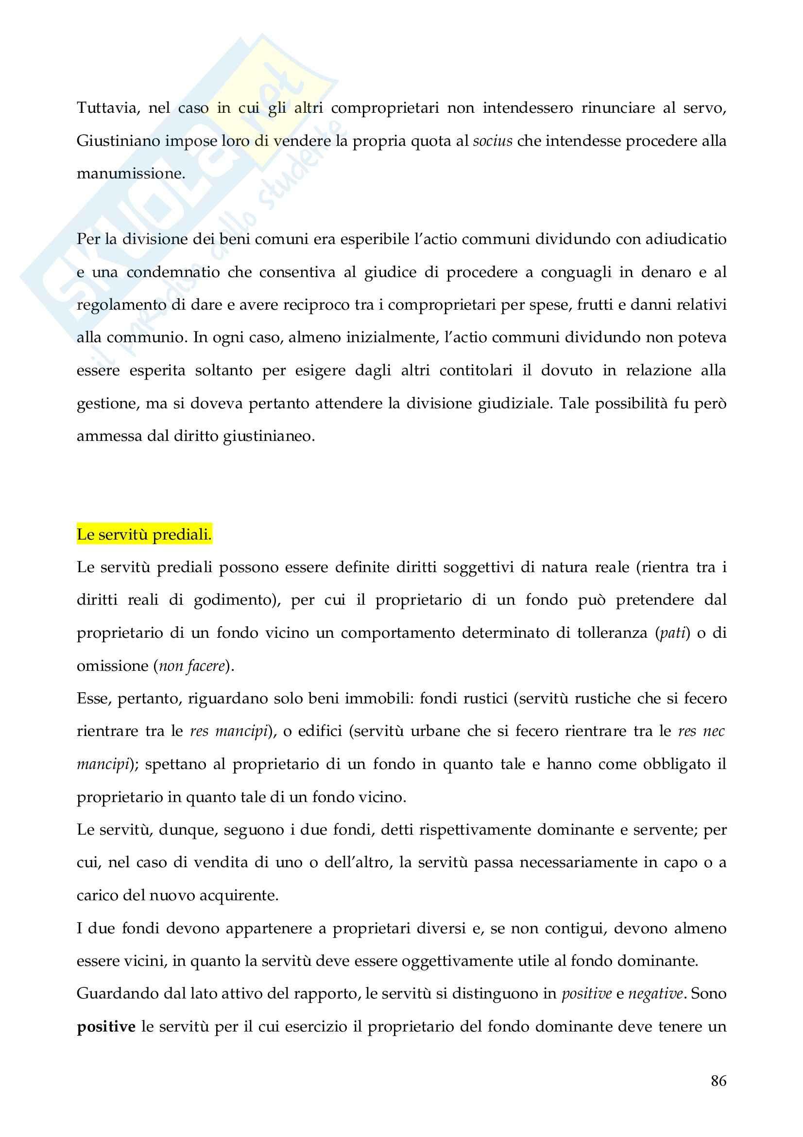 Riassunto esame Istituzioni di Diritto Romano, prof. Finazzi, libro consigliato Istituzioni di Diritto Romano, Talamanca Pag. 86