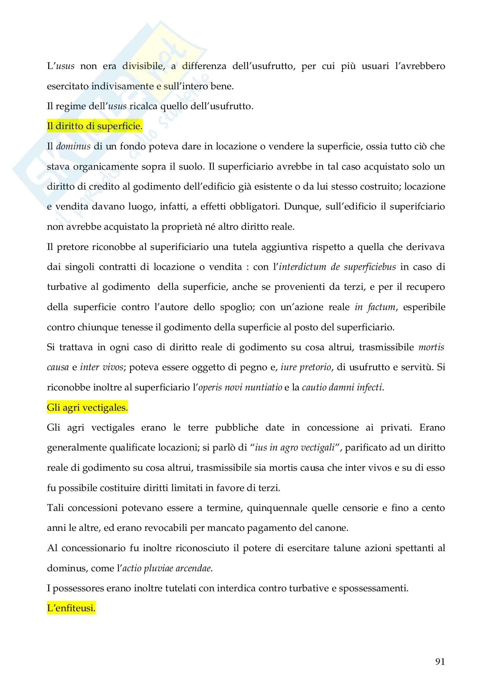 Riassunto esame Istituzioni di Diritto Romano, prof. Finazzi, libro consigliato Istituzioni di Diritto Romano, Talamanca Pag. 91