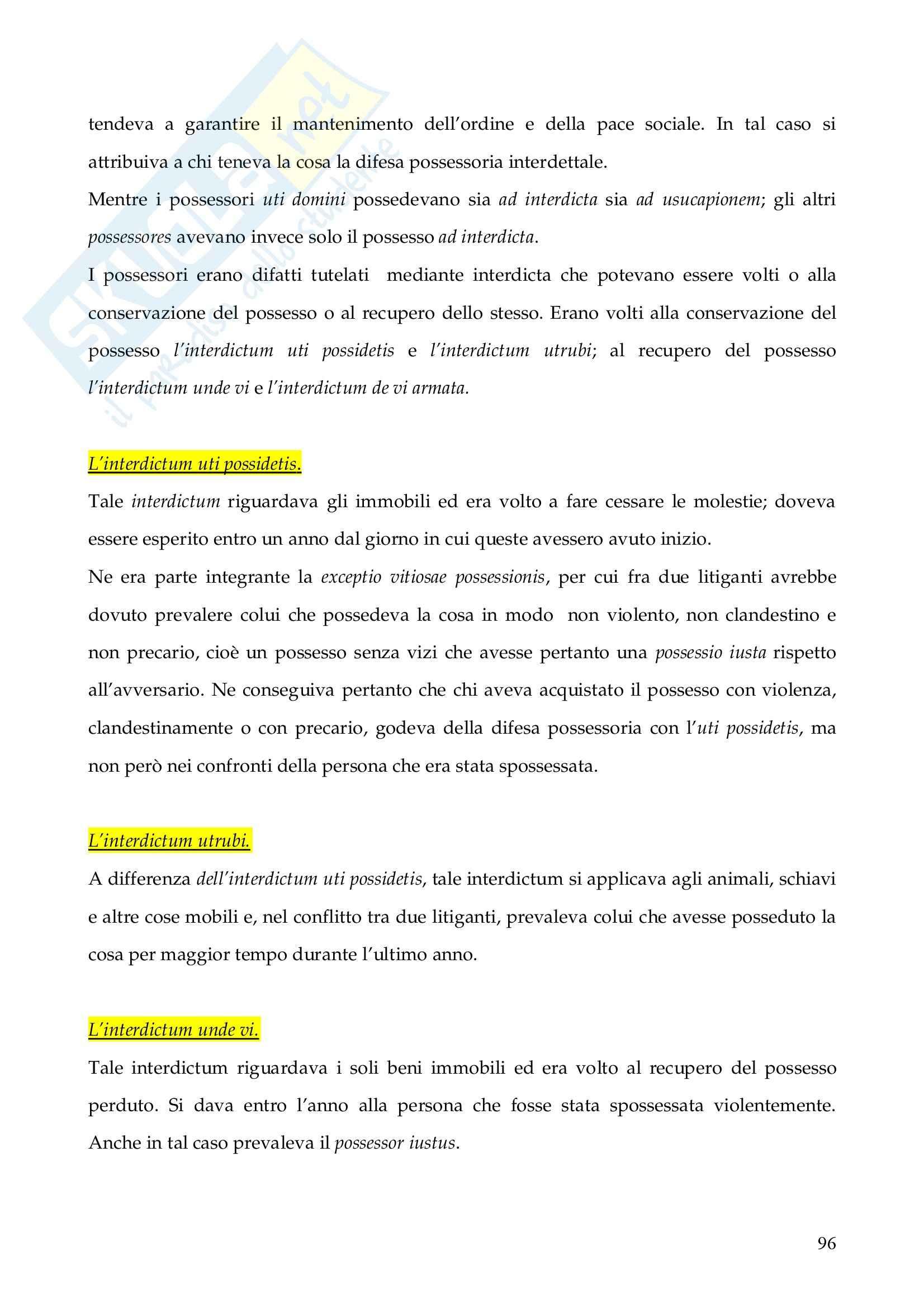 Riassunto esame Istituzioni di Diritto Romano, prof. Finazzi, libro consigliato Istituzioni di Diritto Romano, Talamanca Pag. 96