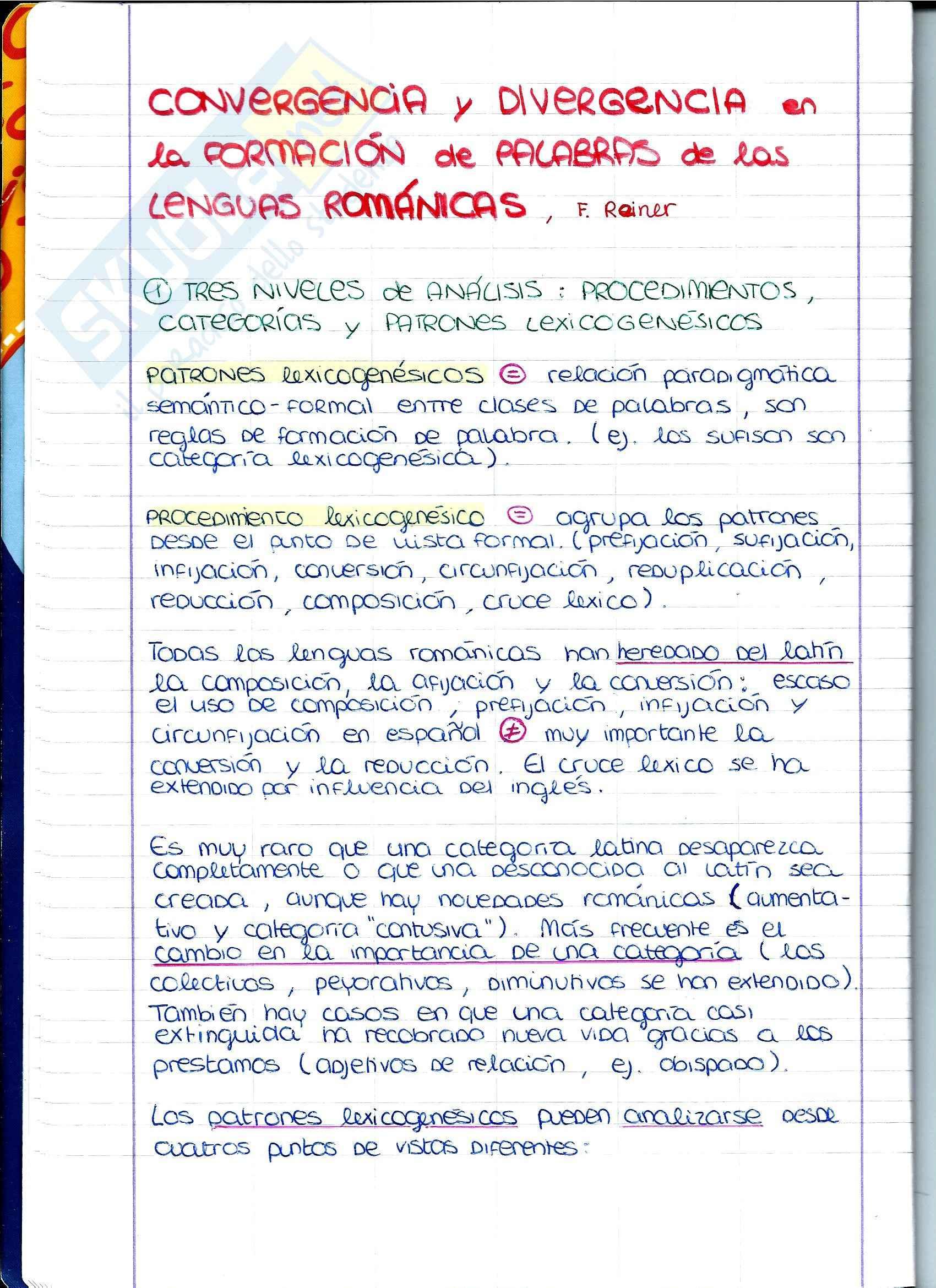 Lingua Spagnola - Convergencia y divergencia