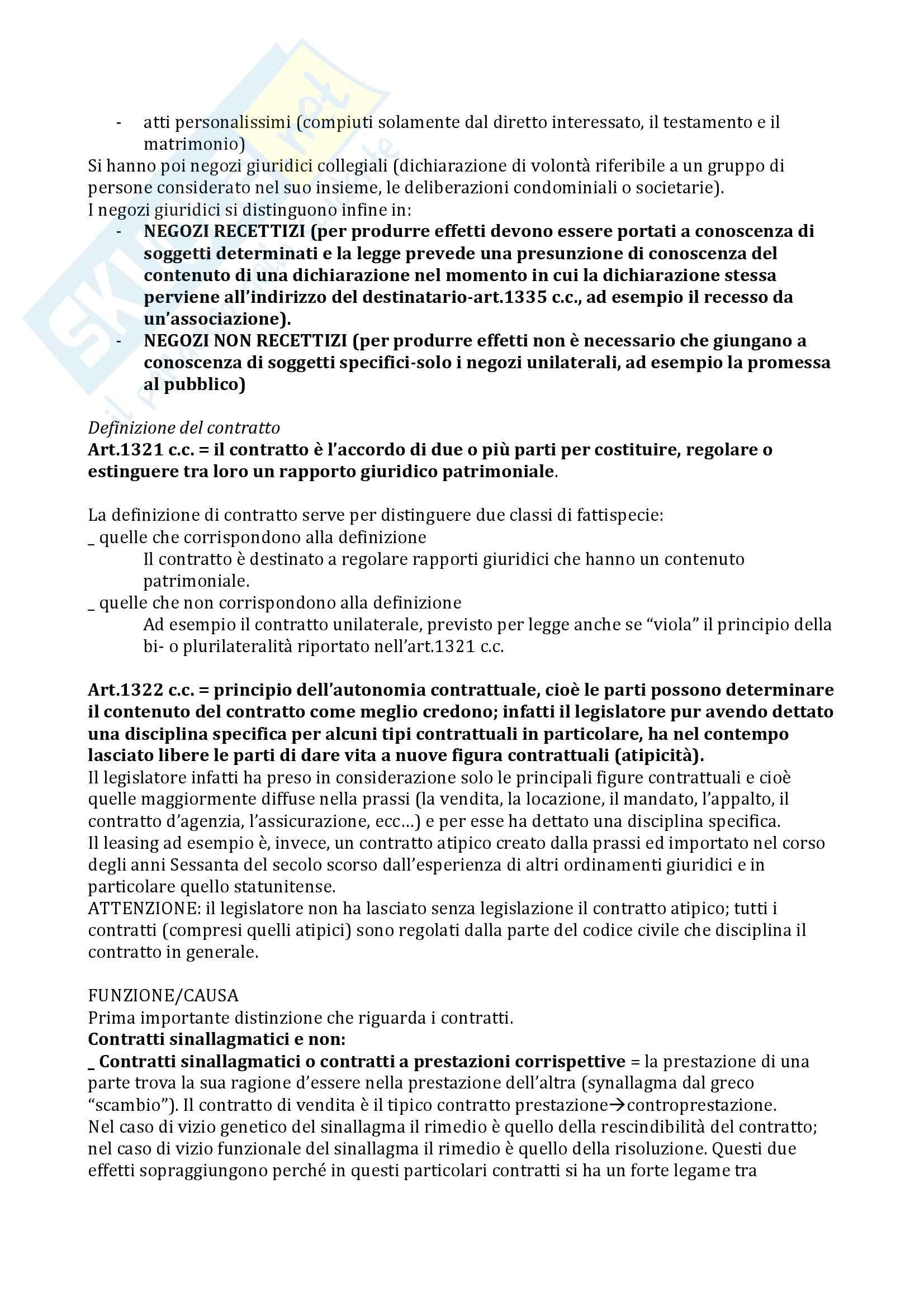 Appunti di Diritto civile Pag. 2