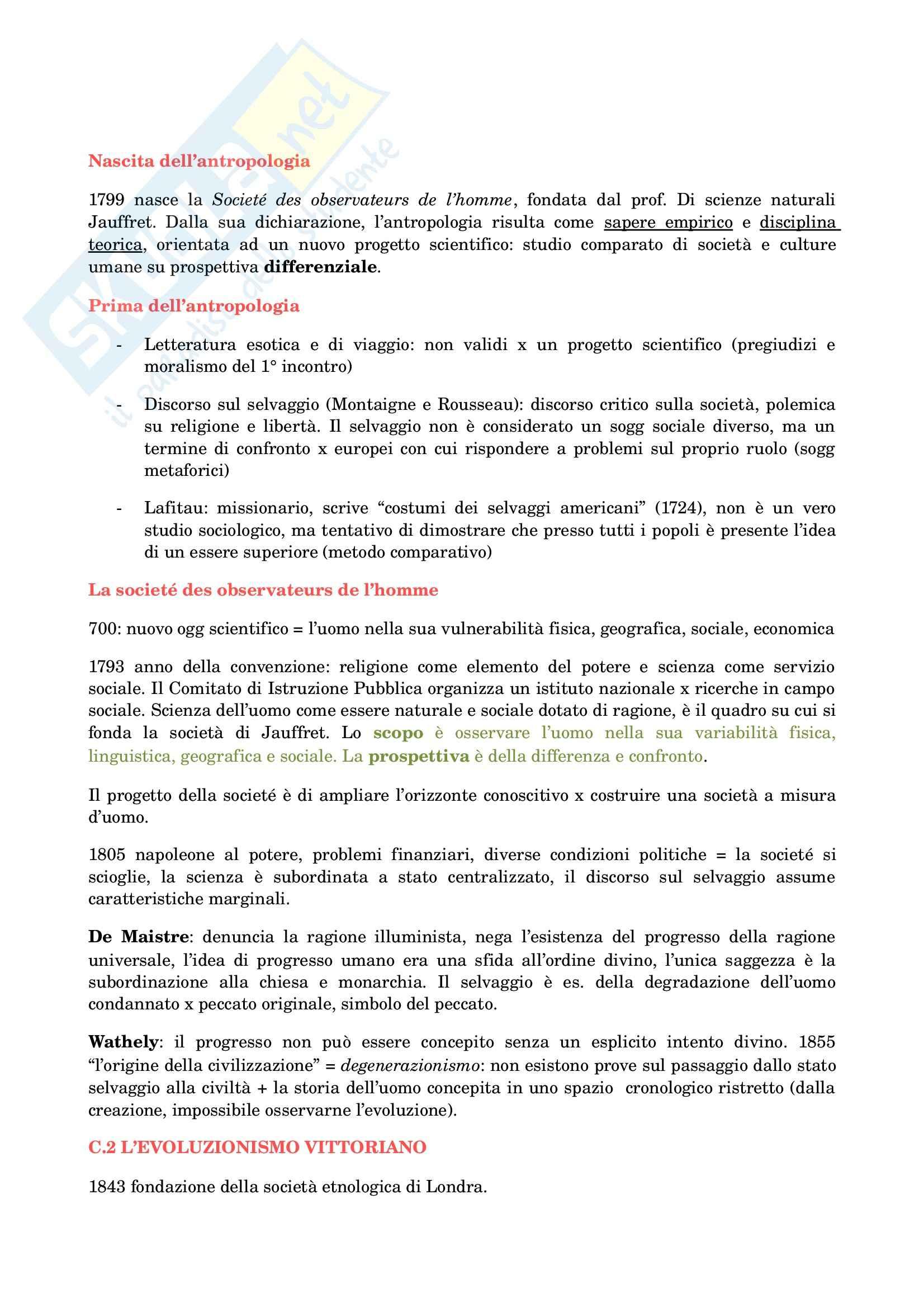 appunto A. Guaraldo Antropologia culturale