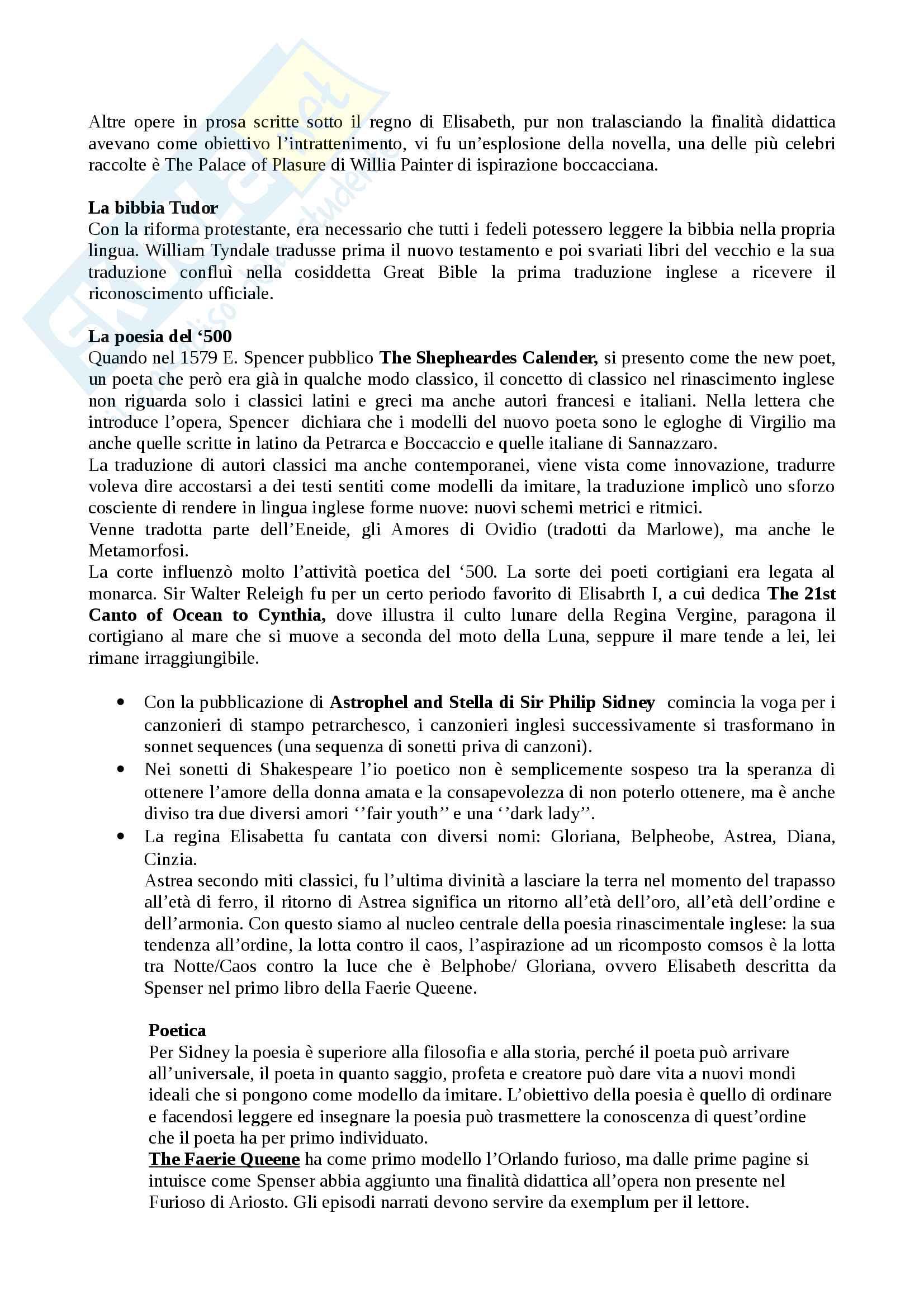 Riassunto letteratura inglese II - dal medioevo al '700, libro consigliato: Manuale di letteratura e cultura inglese, Crisafulli, K. Elam Pag. 6