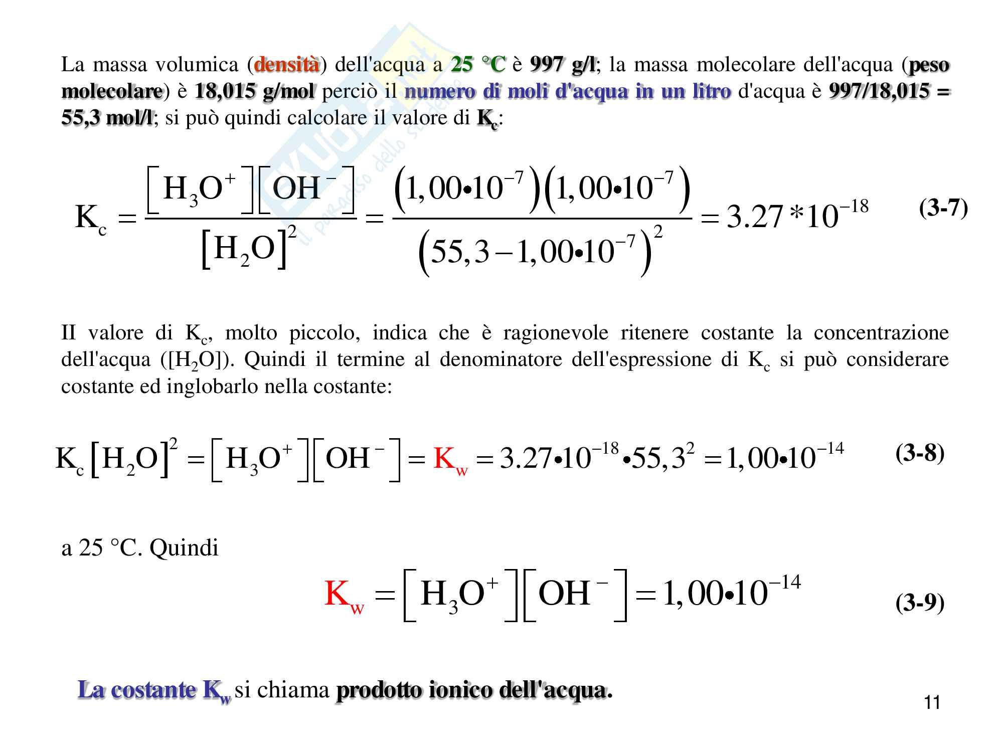 Chimica analitica, equilibrio acido base Pag. 11