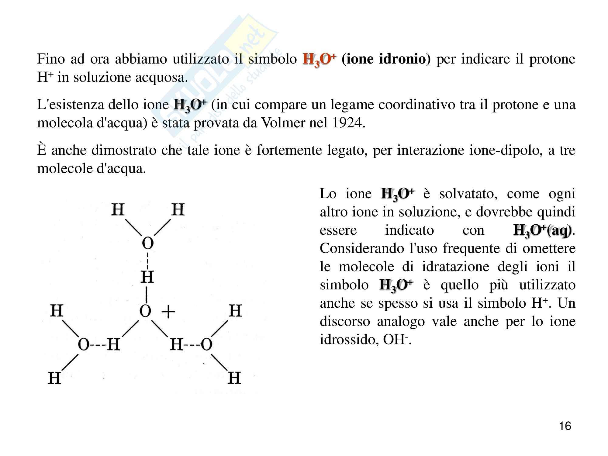 Chimica analitica, equilibrio acido base Pag. 16