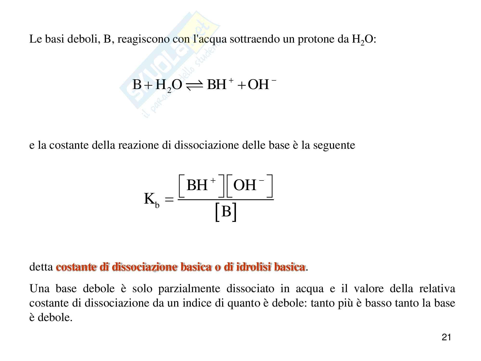 Chimica analitica, equilibrio acido base Pag. 21