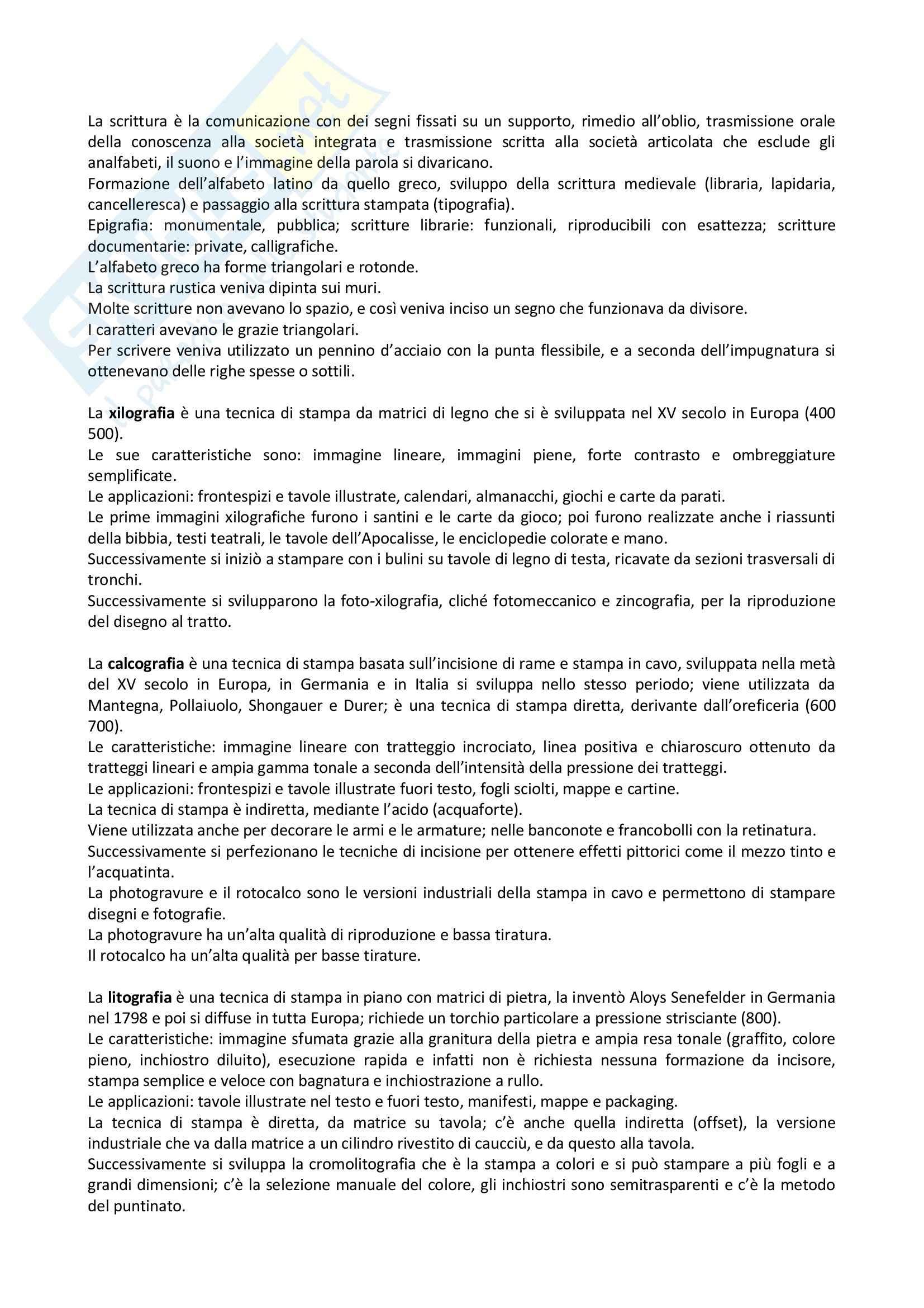 Riassunto esame Storia Della Grafica, prof. Passerini, libro consigliato Storia Del Design Grafico, Baroni, Vitta