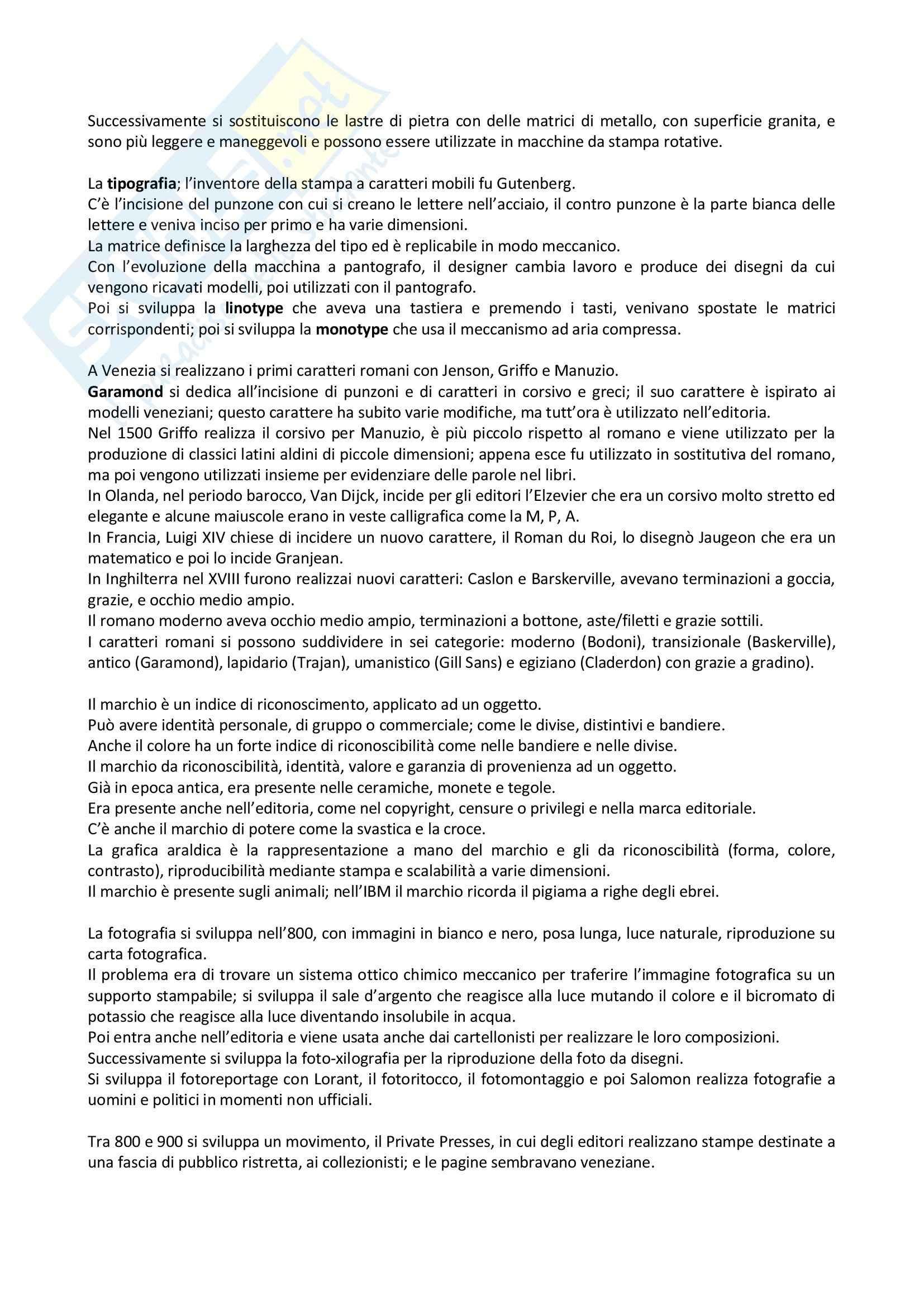 Riassunto esame Storia Della Grafica, prof. Passerini, libro consigliato Storia Del Design Grafico, Baroni, Vitta Pag. 2