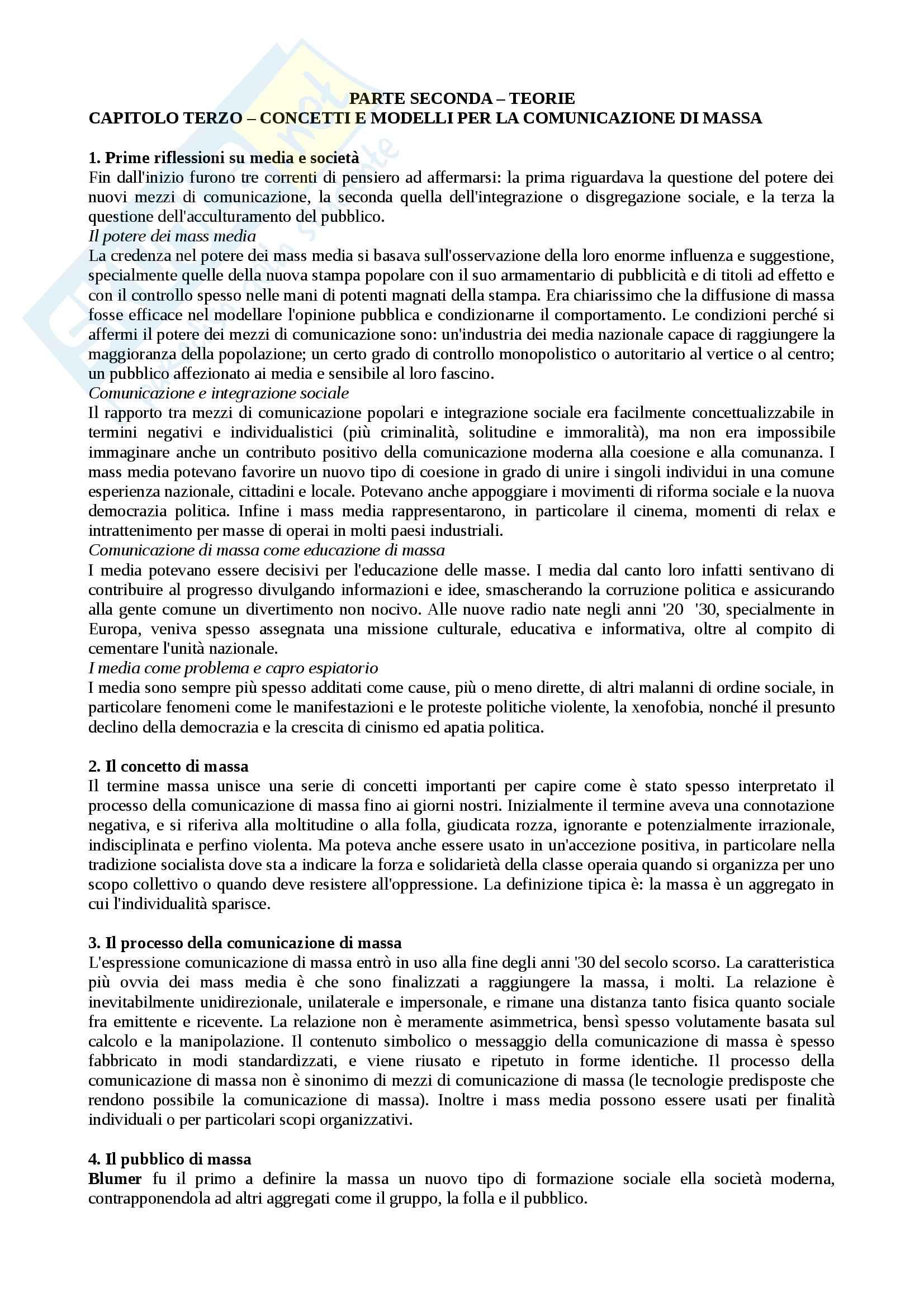 Riassunto esame sociologia della comunicazione, prof. Cepernich, libro consigliato Sociologia dei media, McQuail