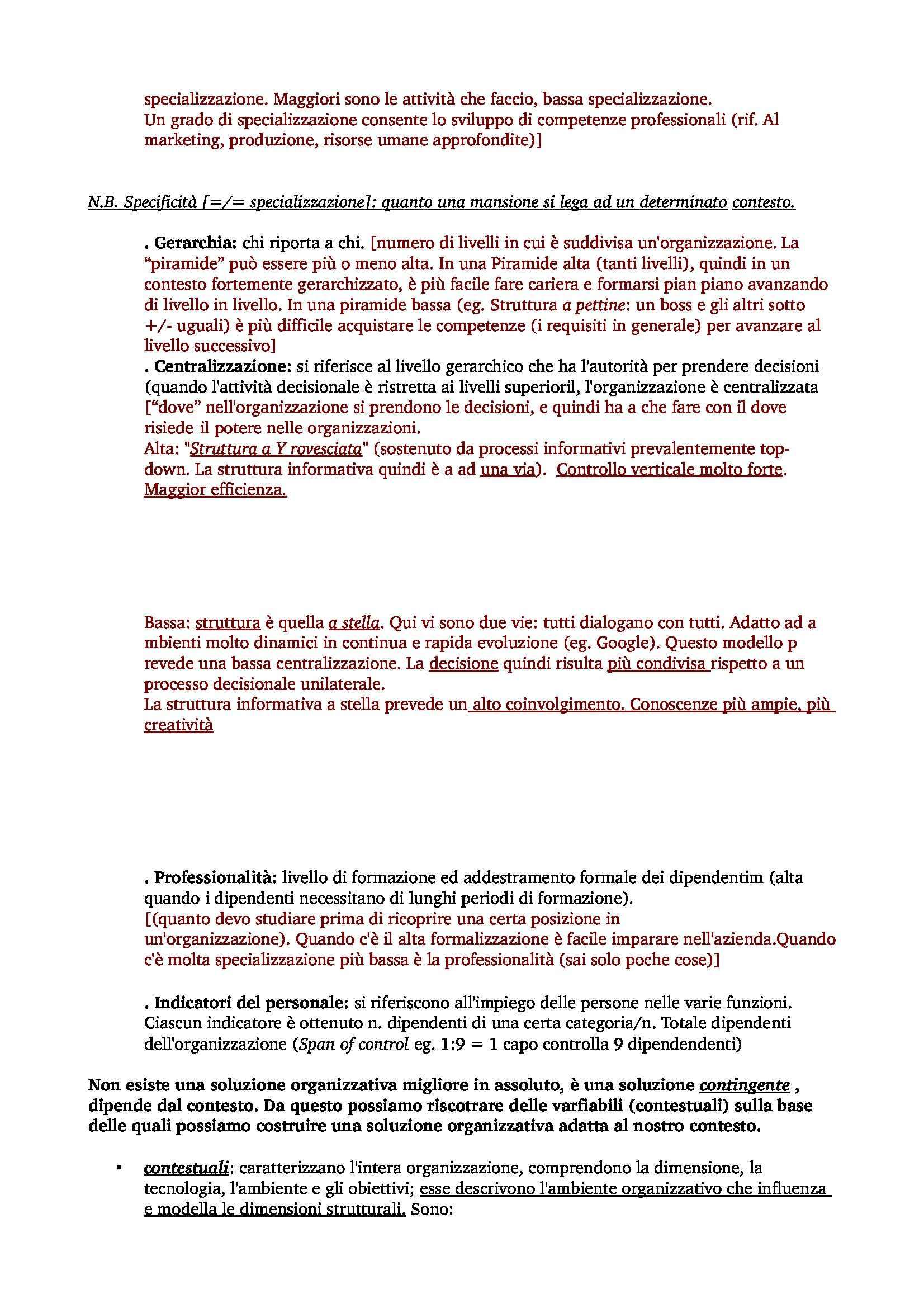 Organizzazione Aziendale - appunti frequentanti - prof.ssa B. Imperatori Pag. 2