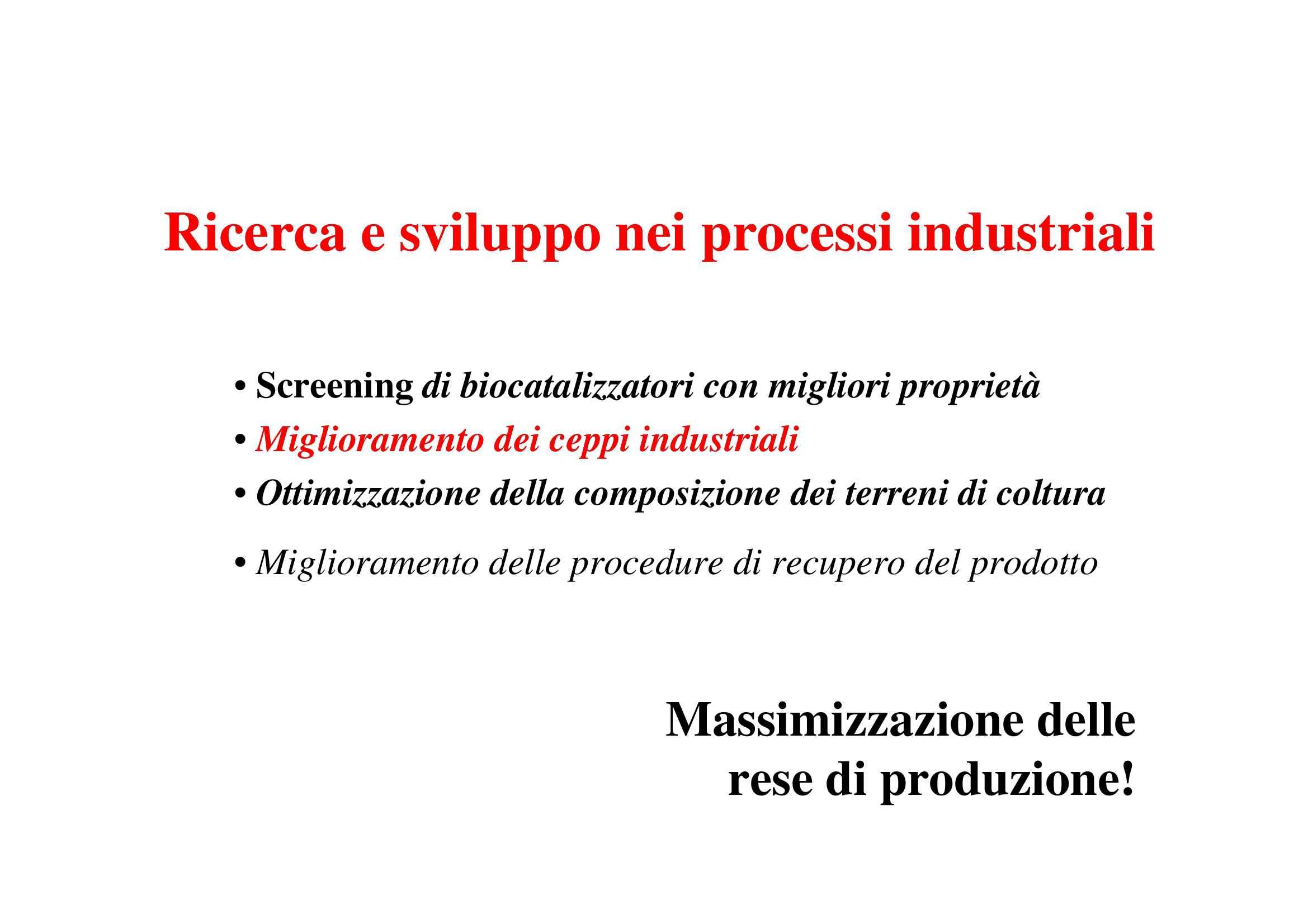 Miglioramento dei ceppi industriali