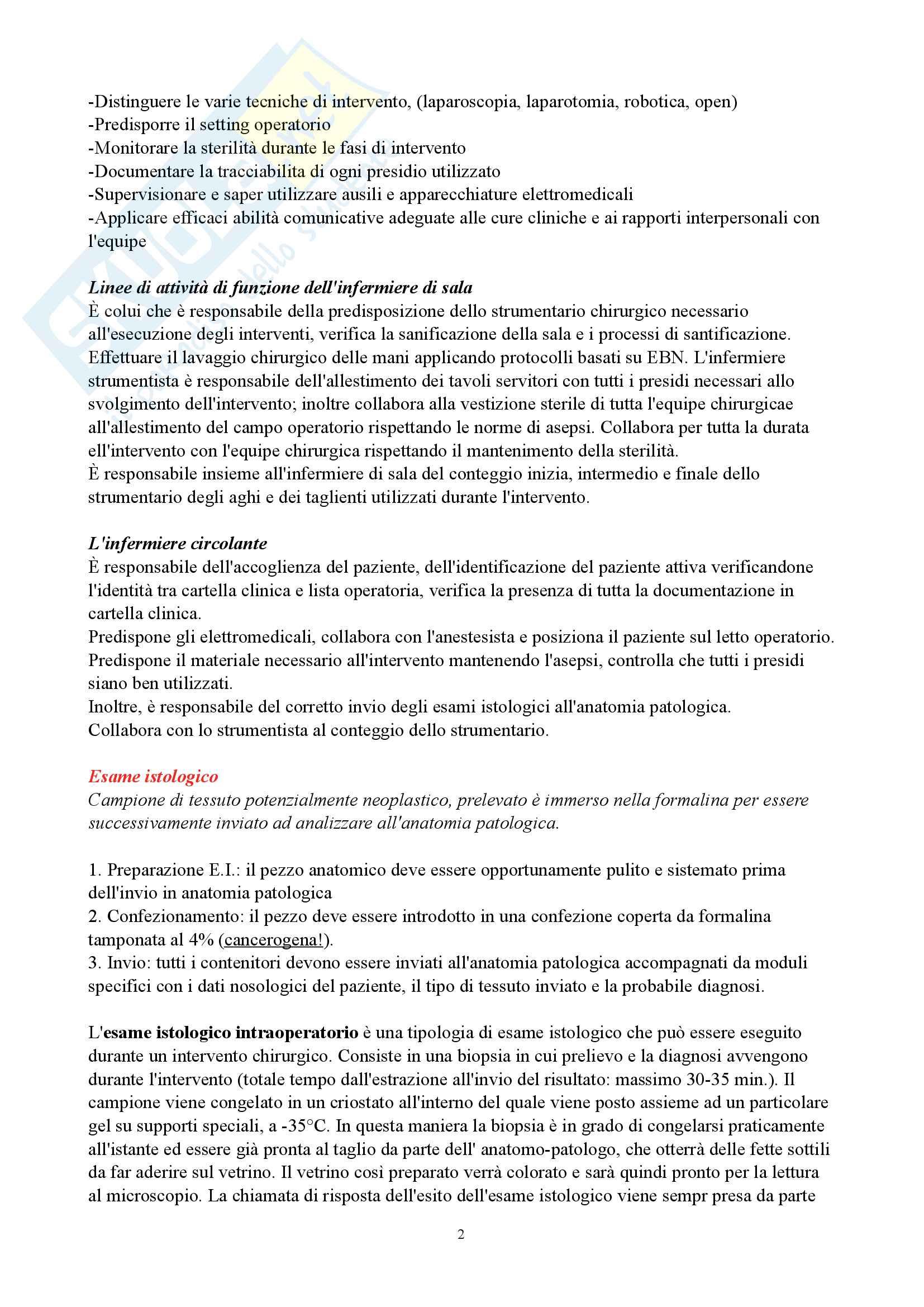 Infermieristica Chirurgica-Appunti Completi Pag. 2