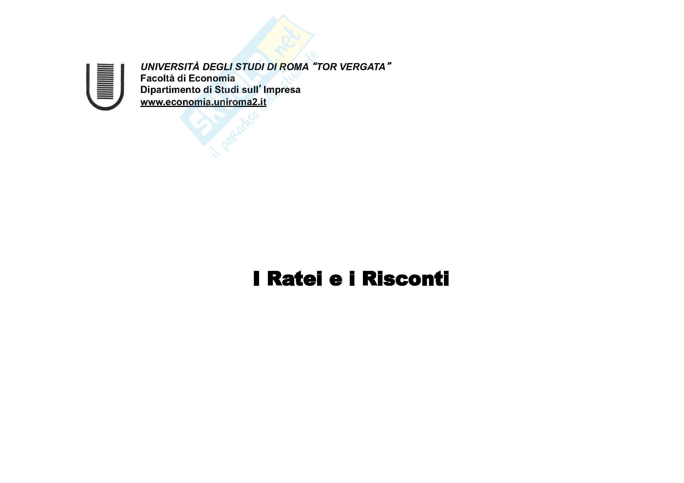 Ragioneria - Ratei e risconti