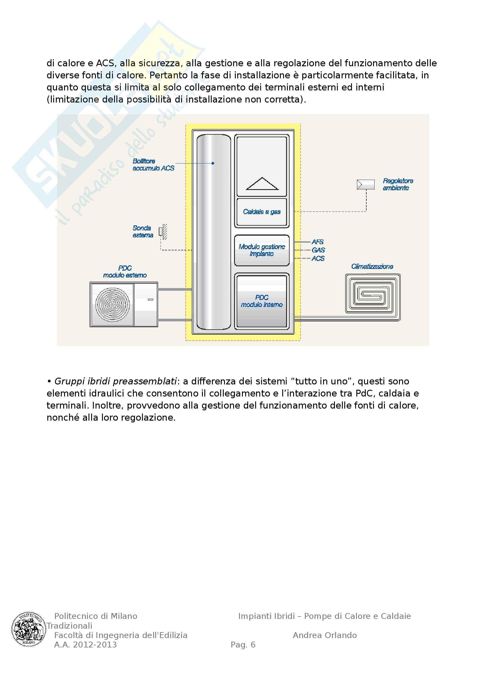 Impianti Ibridi Pompe di Calore e Caldaie Tradizionali, Tesi Pag. 6
