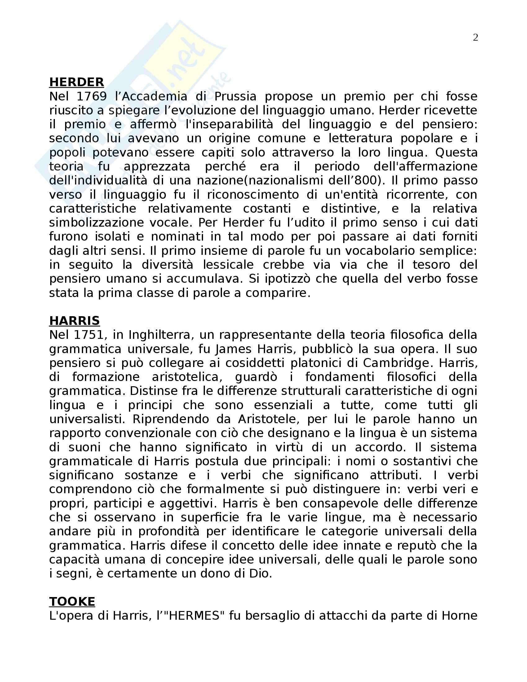 Riassunto esame Linguistica Generale, prof. Assenza, libro consigliato La Linguistica Moderna, Robins Pag. 2