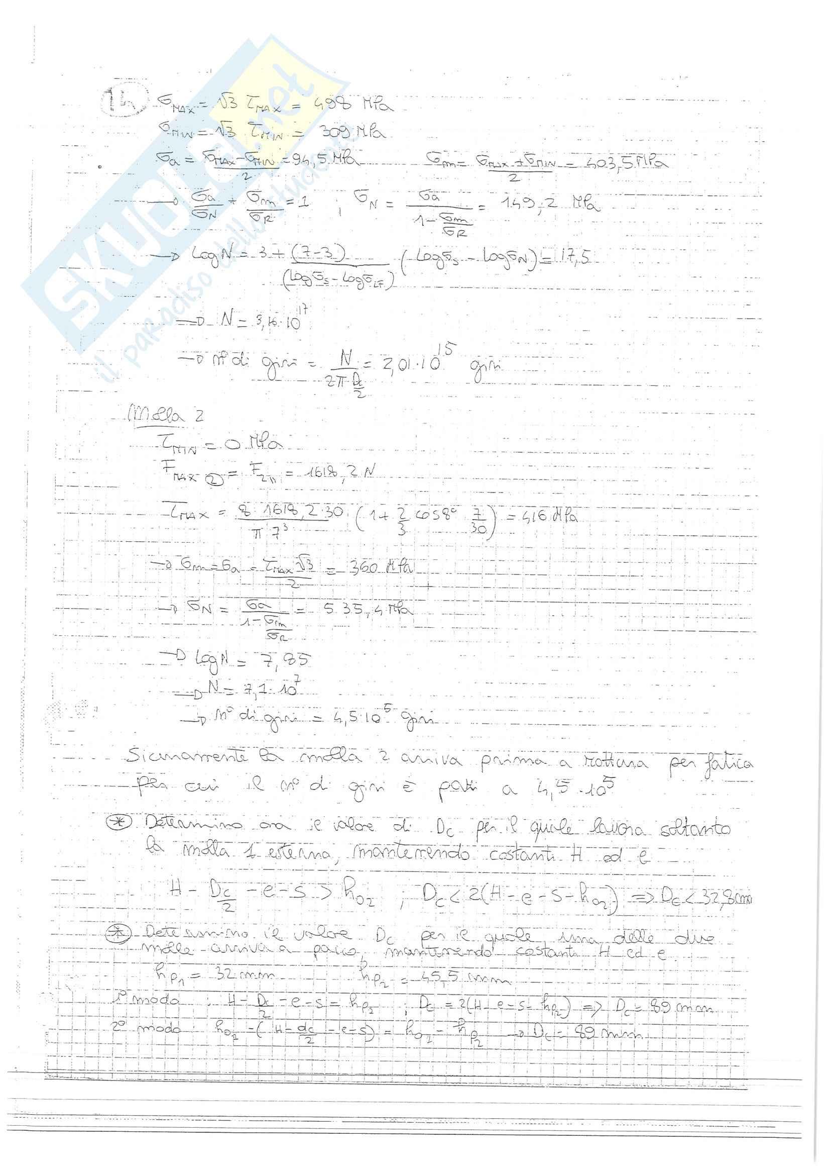Esercizi svolti esame Costruzione di Macchine, prof. Amodio, libro consigliato Progetto e costruzione di Macchine, Shigley Pag. 31