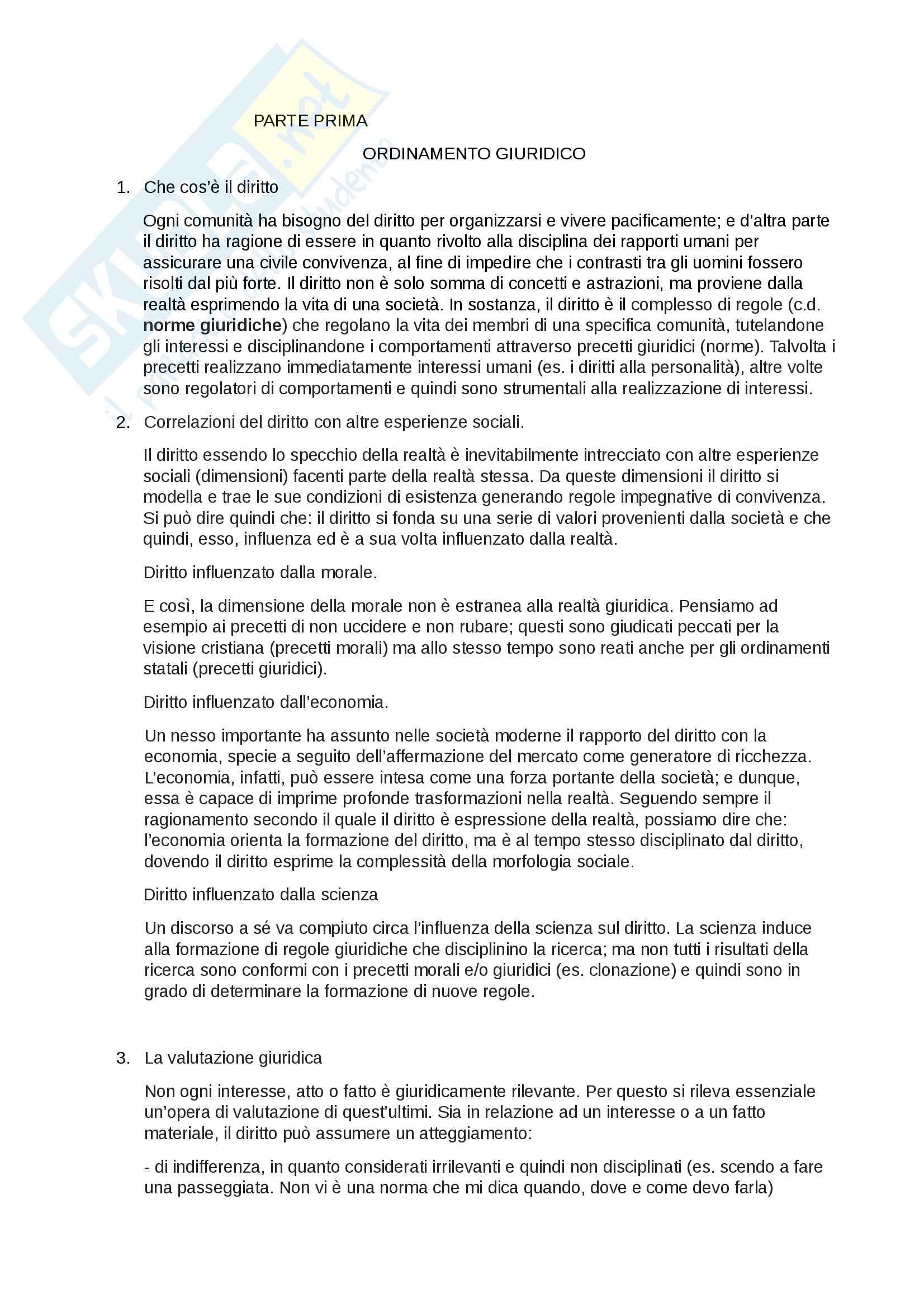 Riassunto esame Diritto privato, prof. R. Bocchini, libro consigliato Manuale di diritto privato, Bocchini, Quadri