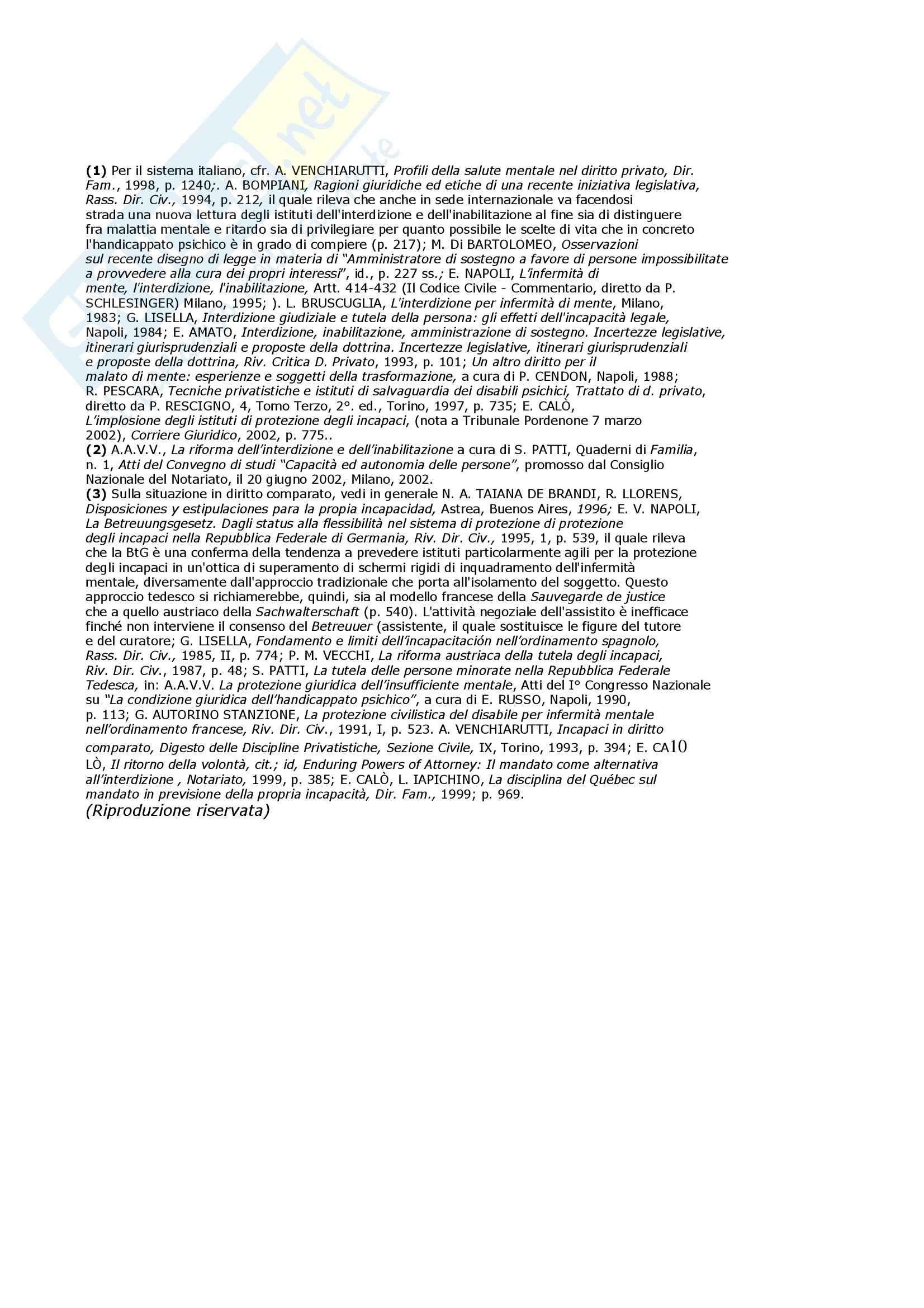 Diritto privato - l'amministrazione di sostegno Pag. 6